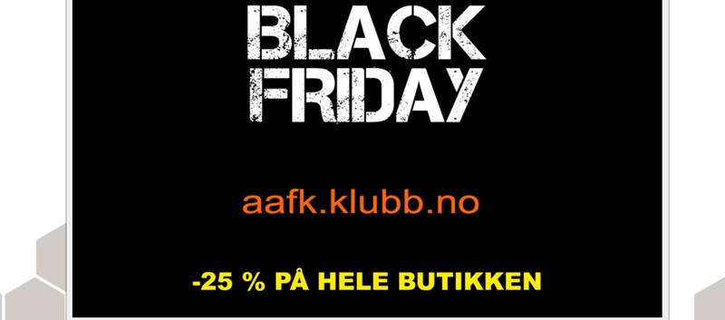 Black Friday aafk.no nettbutikk