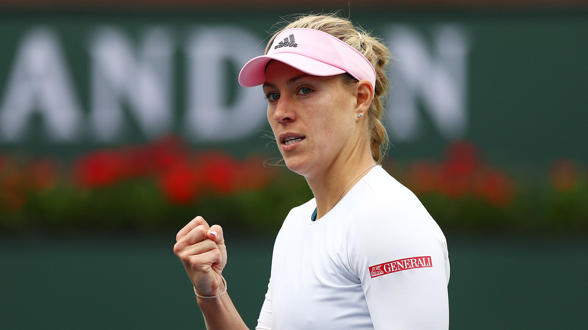 Maria Sharapova made a second-round exit from her comeback tournament as Wimbledon champion Angelique Kerber proved far too strong.