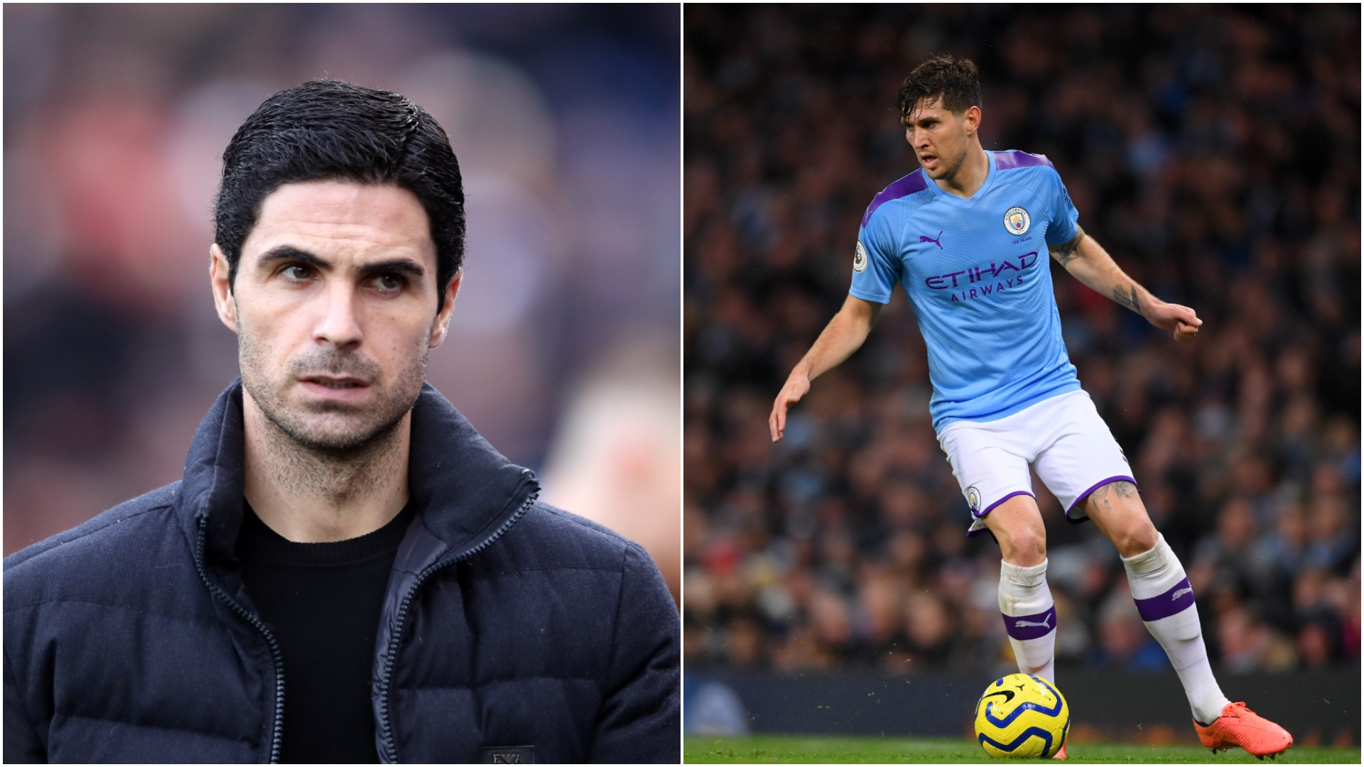 Mikel Arteta believes John Stones is a great player, but the Arsenal head coach has denied the Gunners are interested in the defender.
