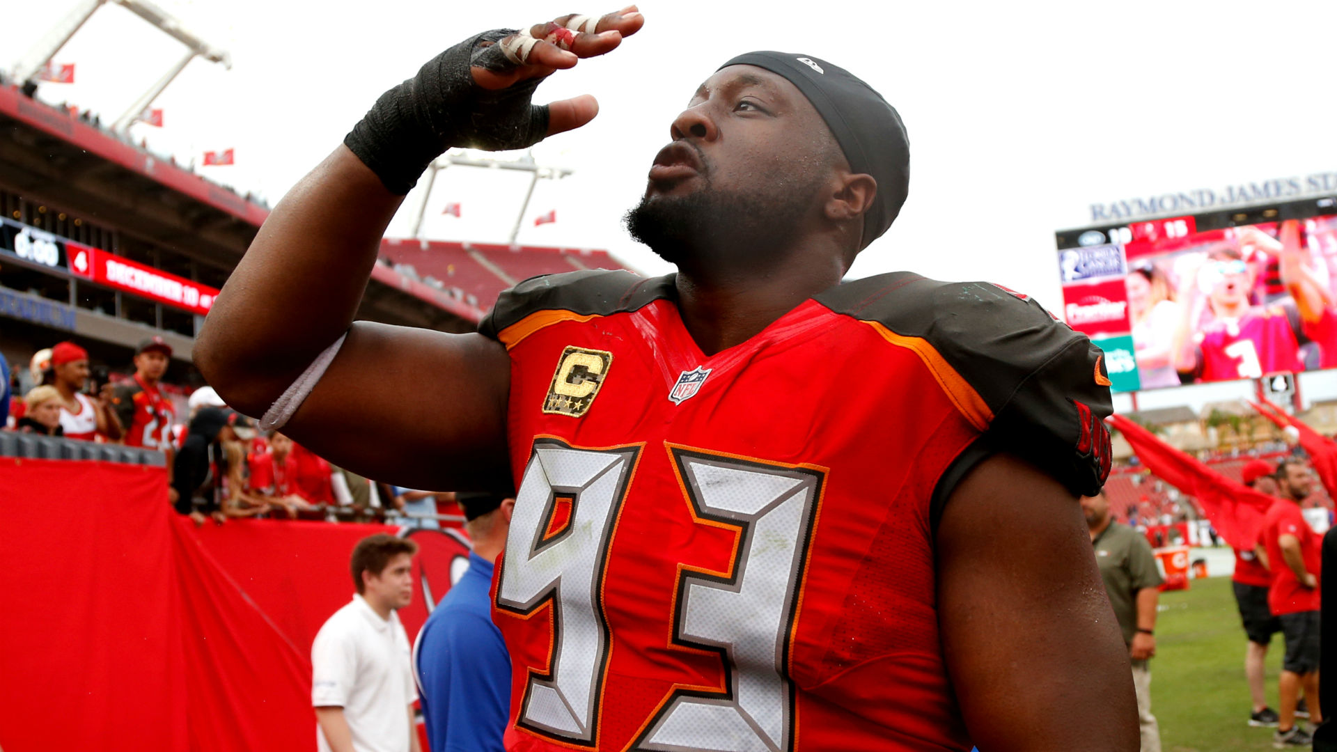 The Tampa Bay Buccaneers will say goodbye to a veteran presence on defense.