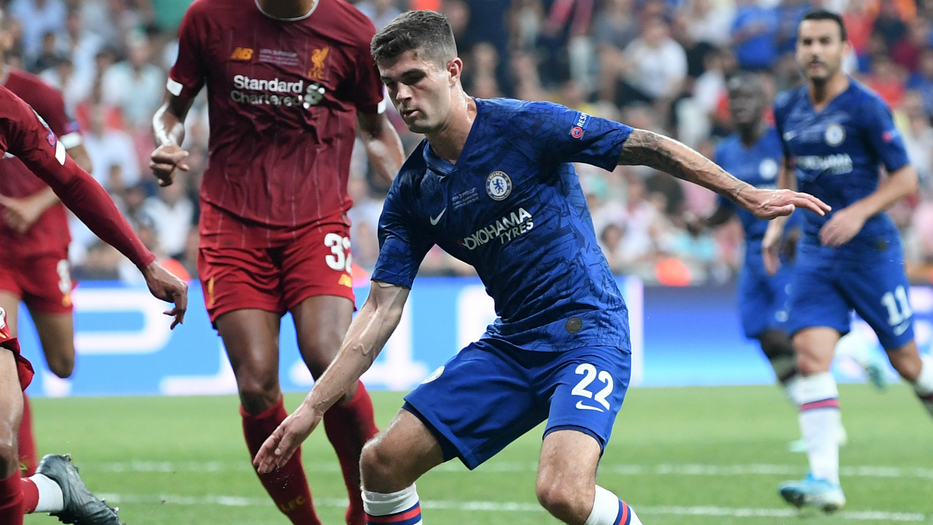 After making his starting debut for Chelsea on Wednesday, Frank Lampard praised the potential of Christian Pulisic.
