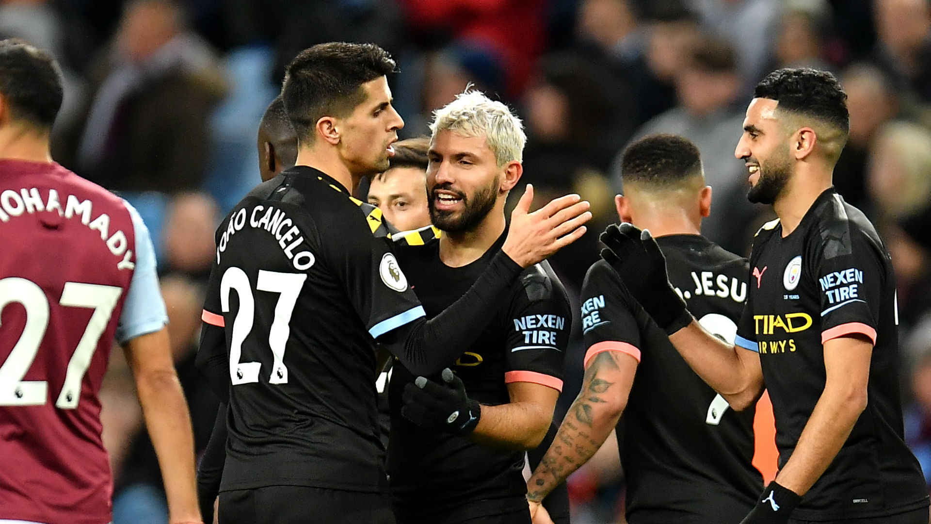 Manchester City's rout of Aston Villa allowed Sergio Aguero to climb above Thierry Henry in the Premier League record books.