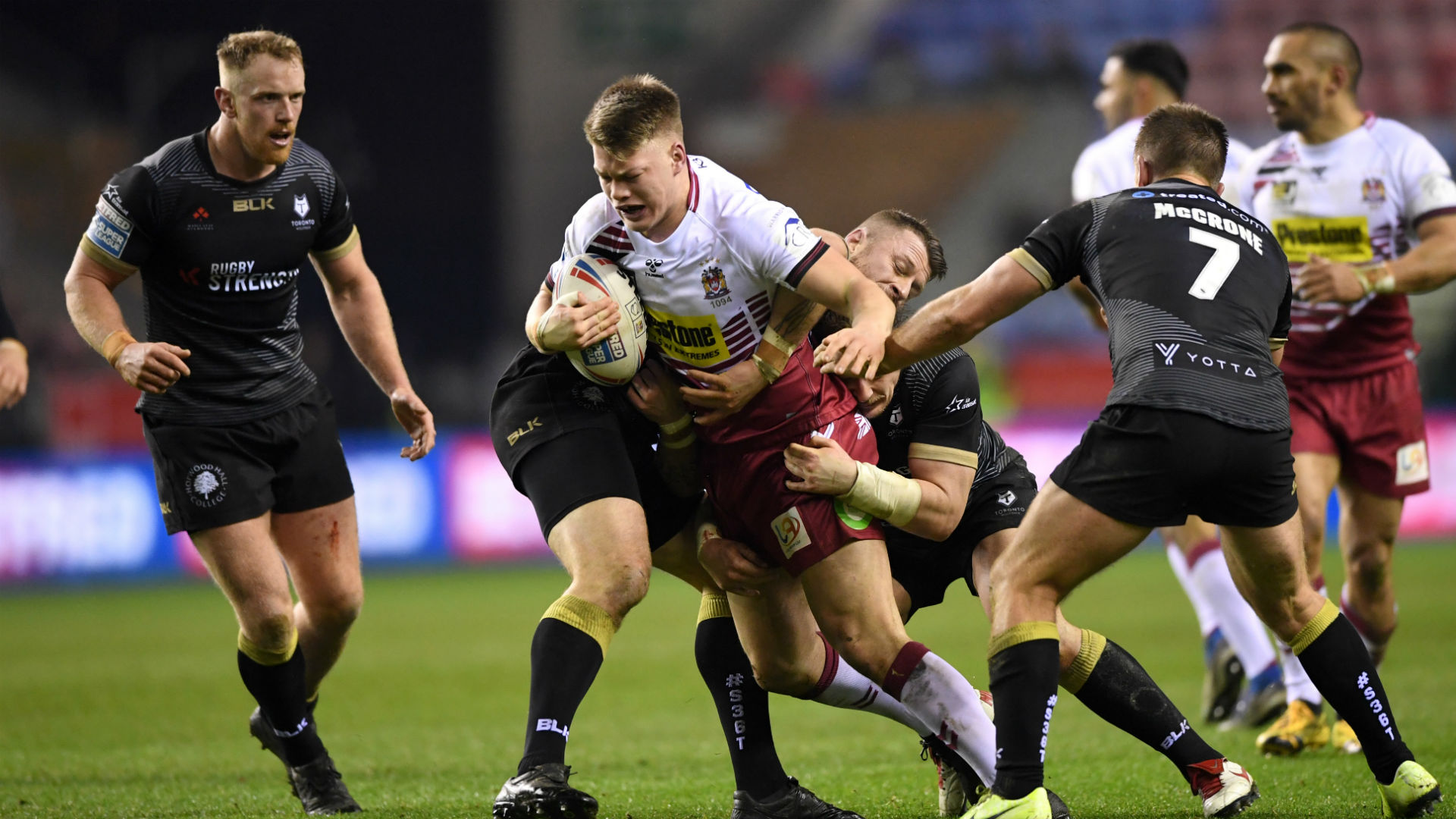 Wigan Warriors ultimately ran out comfortable winners against Toronto Wolfpack, but the Super League new boys dug in with limited numbers.