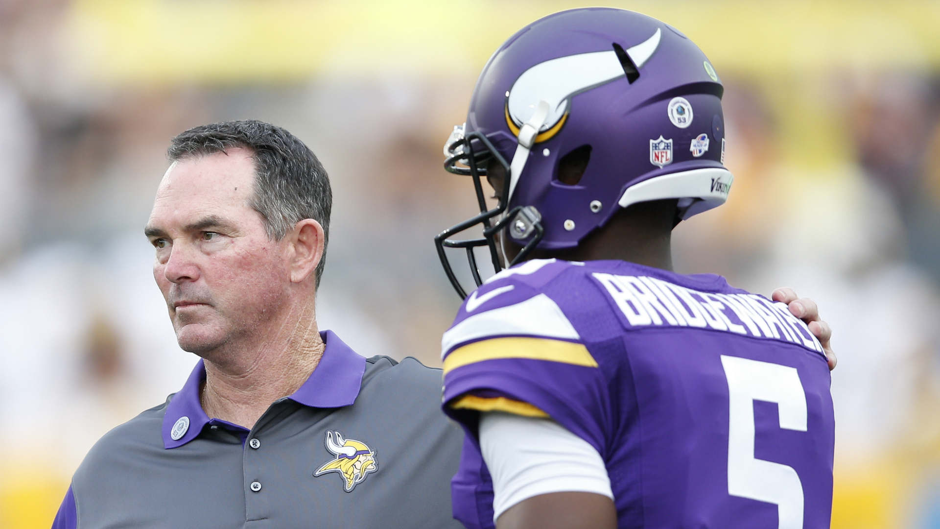 """Mike Zimmer said the Minnesota Vikings have """"a lot of question marks"""" at quarterback, where Teddy Bridgewater is fighting for his future."""