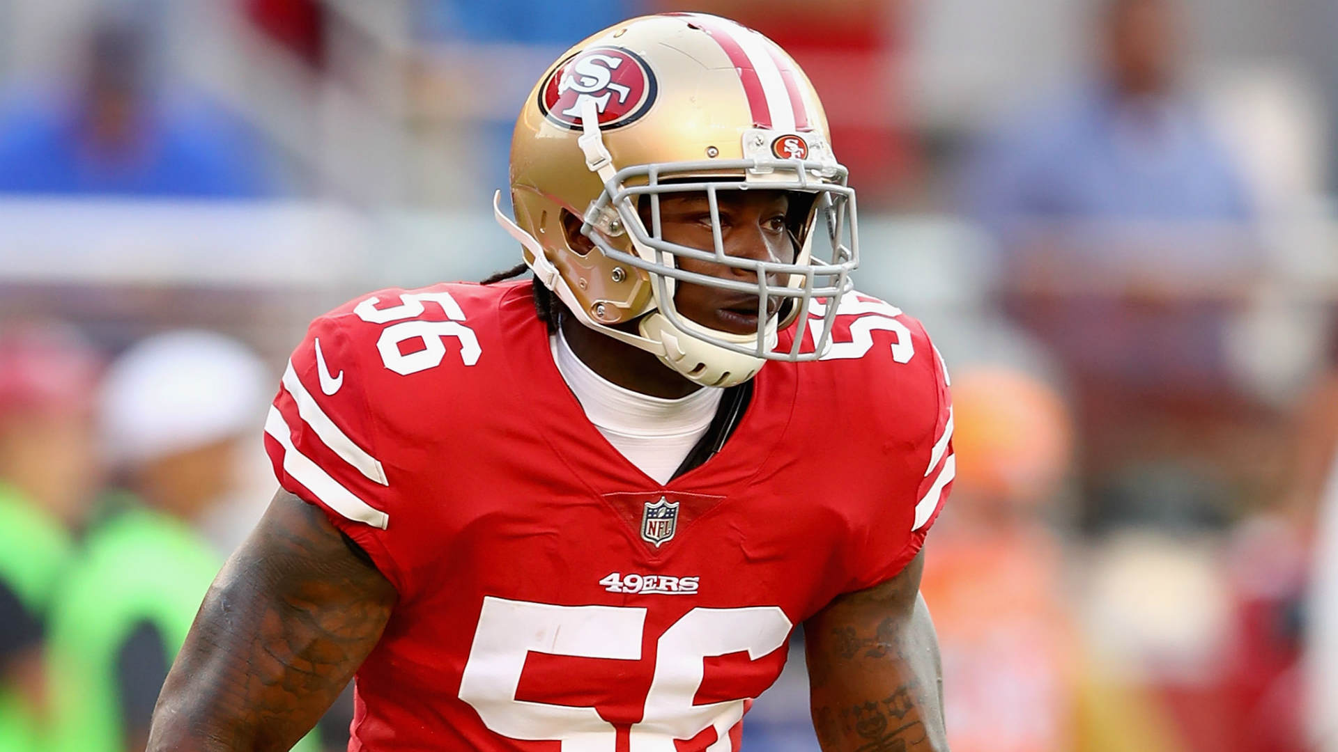 John Lynch remained guarded on the situation surrounding 49ers linebacker Reuben Foster following his two offseason arrests.