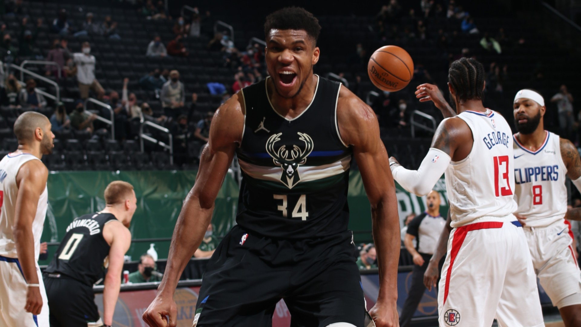 Giannis Antetokounmpo reflected on the Milwaukee Bucks' come-from-behind win over the Los Angeles Clippers on Sunday.