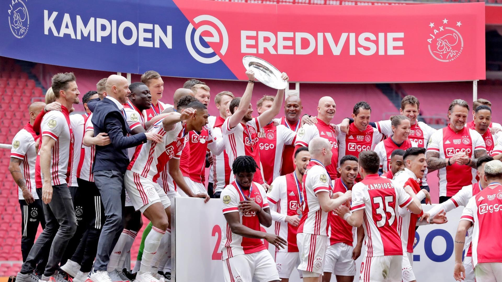 Ajax clinched their 35th league title earlier this month and decided to melt the trophy in a show of gratitude to their supporters.