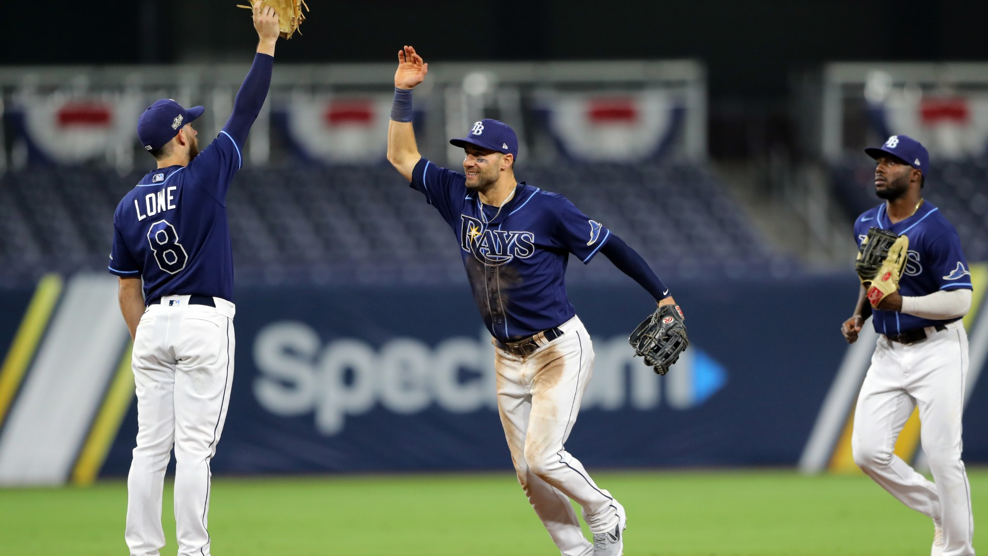 The American League's number one seed Tampa Bay Rays bounced back to hammer four home runs past the New York Yankees in a 7-5 ALDS victory.