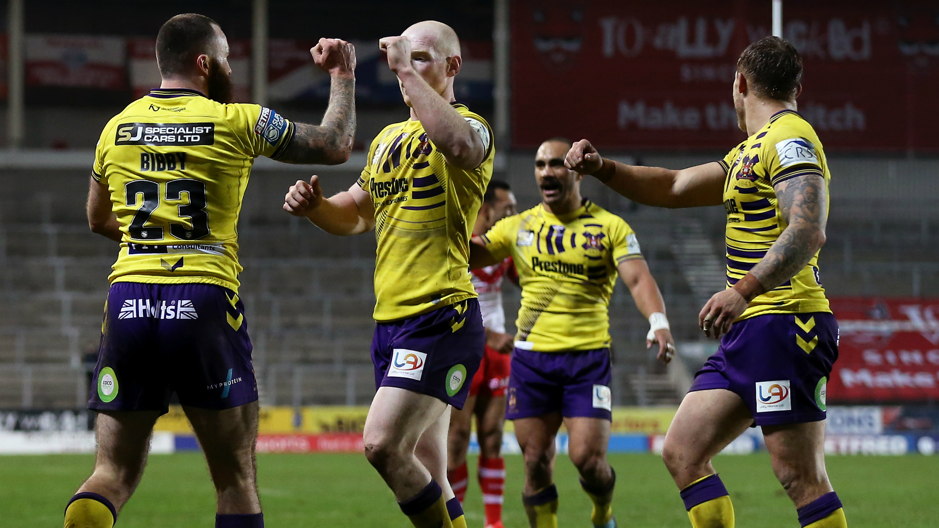 Wigan and Warrington earned important victories in Super League on Friday, with the Warriors moving into first place.