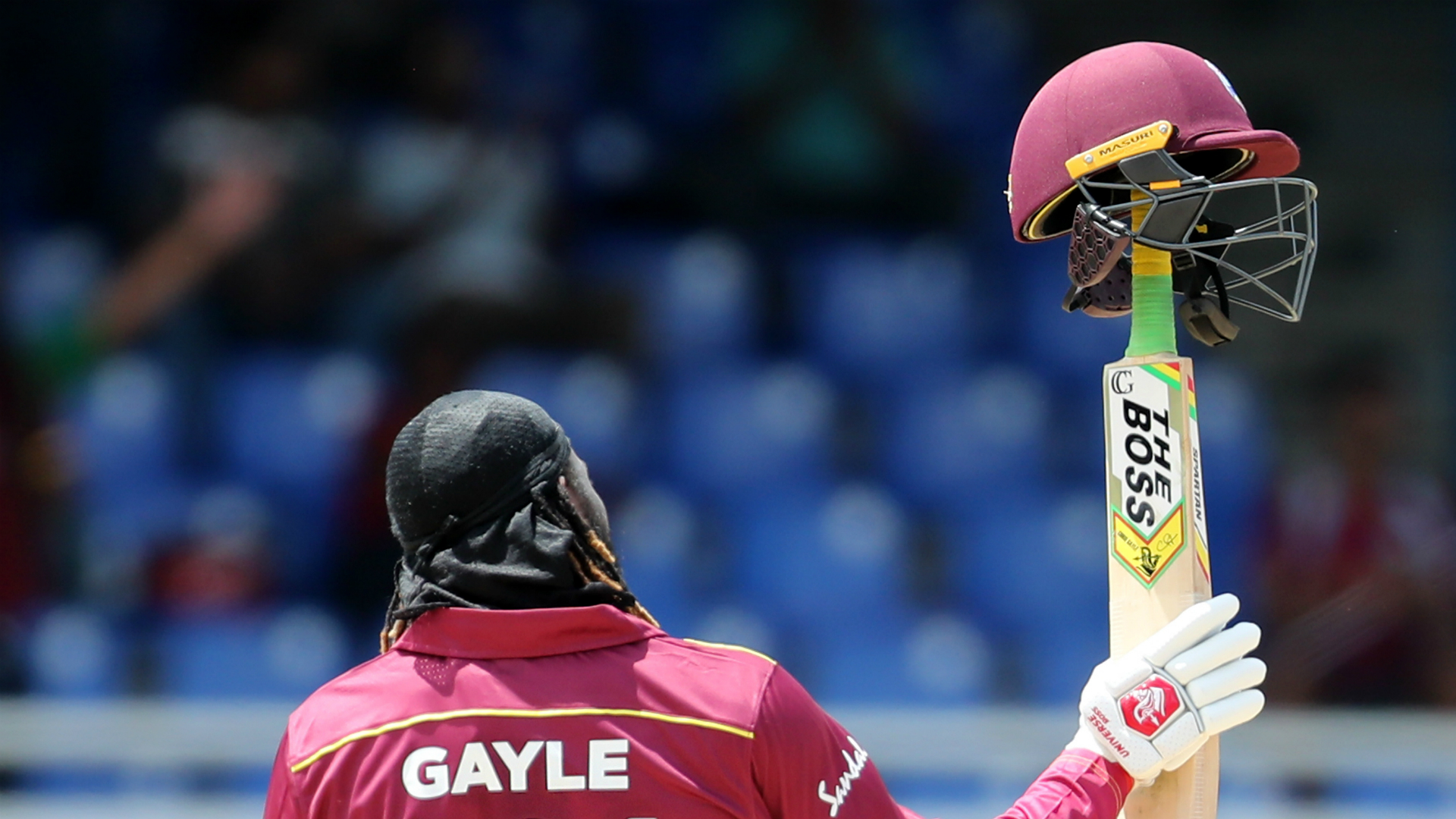 Captain Virat Kohli's unbeaten hundred steered India to victory at Port of Spain after Chris Gayle rolled back the years in the final ODI.