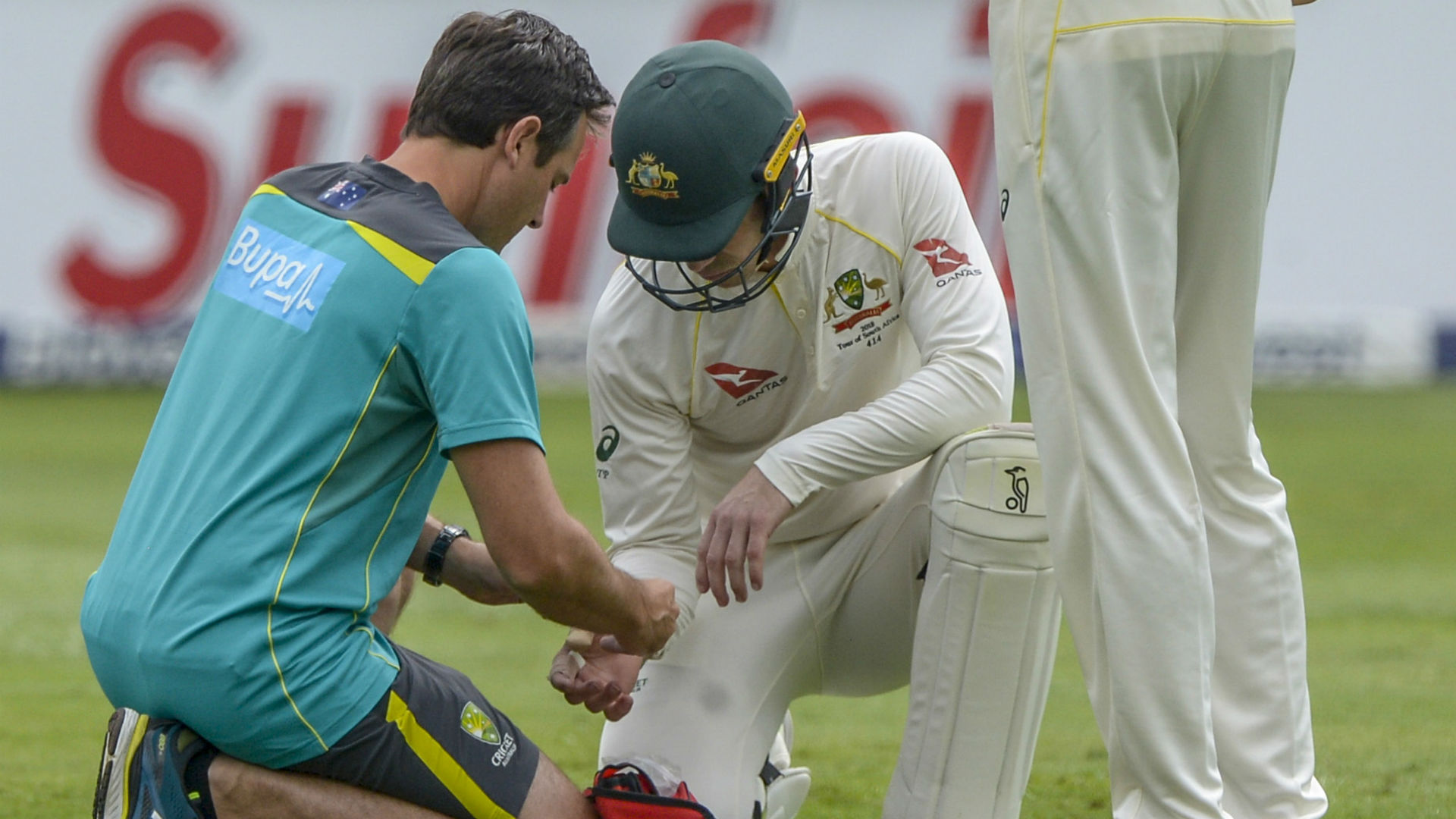 Australia have confirmed Tim Paine suffered a hairline fracture during day two of the series finale against South Africa.