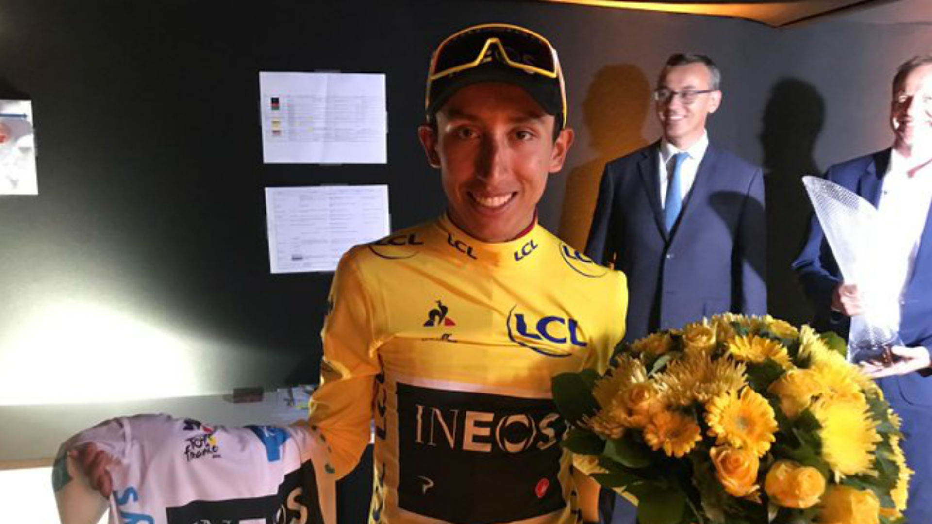 A big crowd came out to celebrate Egan Bernal's homecoming following his historic Tour de France triumph.