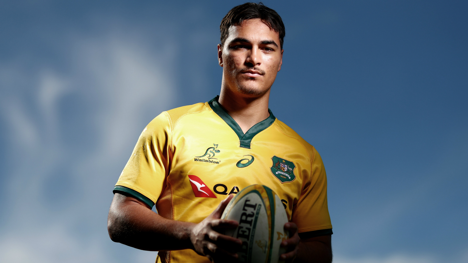 Jordan Petaia, 19, is the only uncapped Australia player in Michael Cheika's squad for the showpiece event, which starts on September 20.