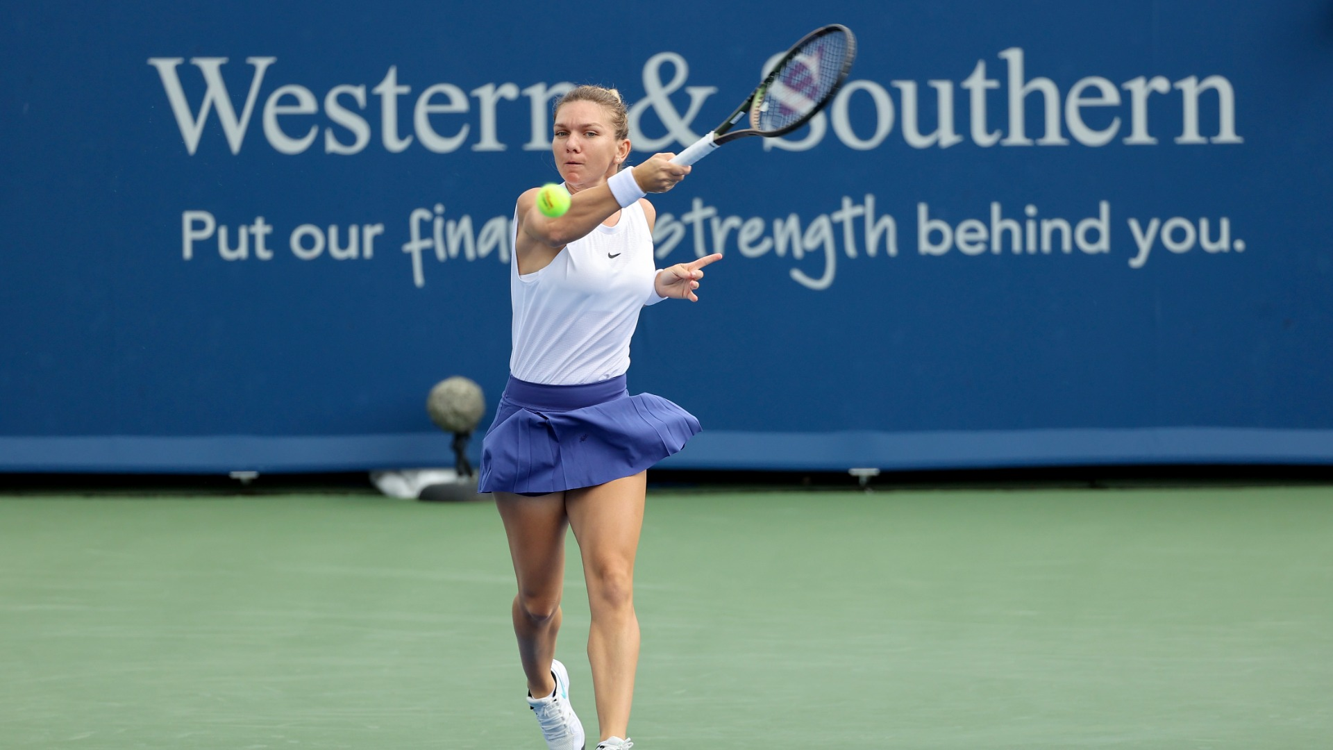 Two-time grand slam champion Simona Halep says she feels protected after taking the coronavirus vaccine.