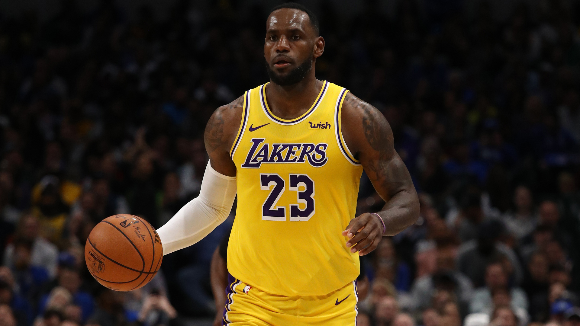 LeBron James and Anthony Davis helped the Los Angeles Lakers cruise past the Miami Heat in the NBA.