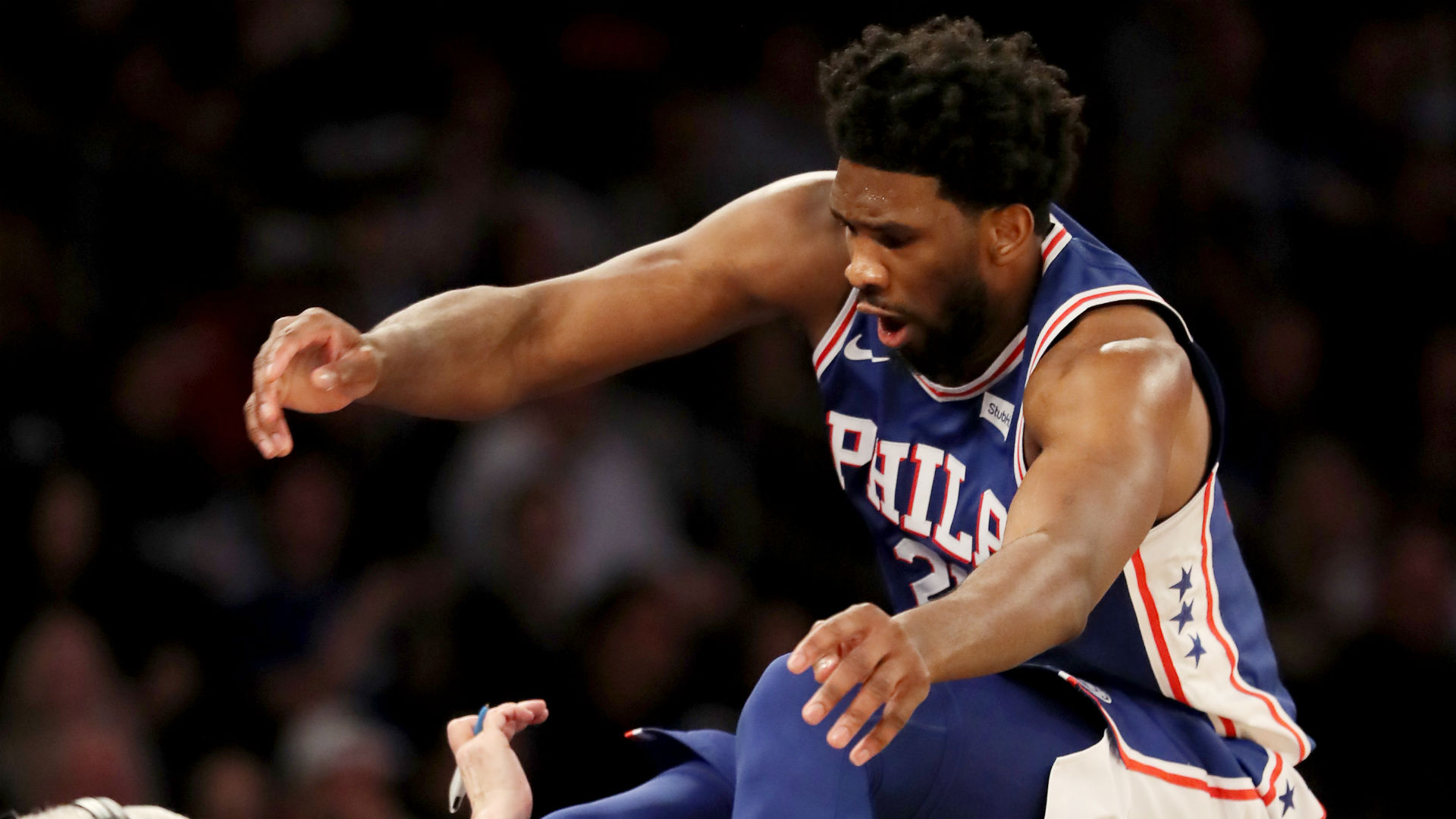 Embiid avoids collision with King