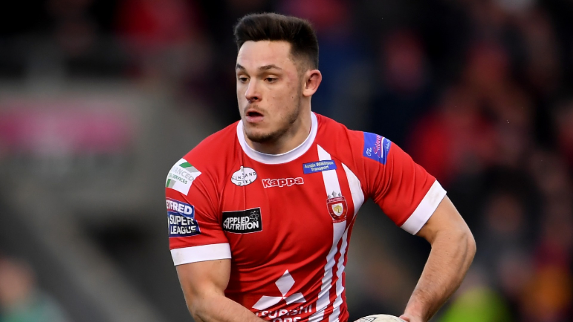 Salford Red Devils eased past Wakefield Trinity at home in Super League on Sunday thanks to Niall Evalds' hat-trick.