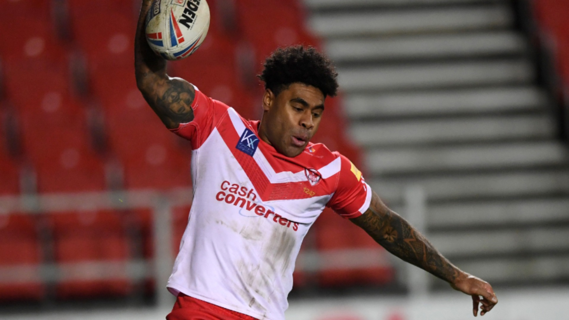 Catalans Dragons had two men sent to the sin bin and conceded 48 unanswered points in a humiliating defeat to St Helens.