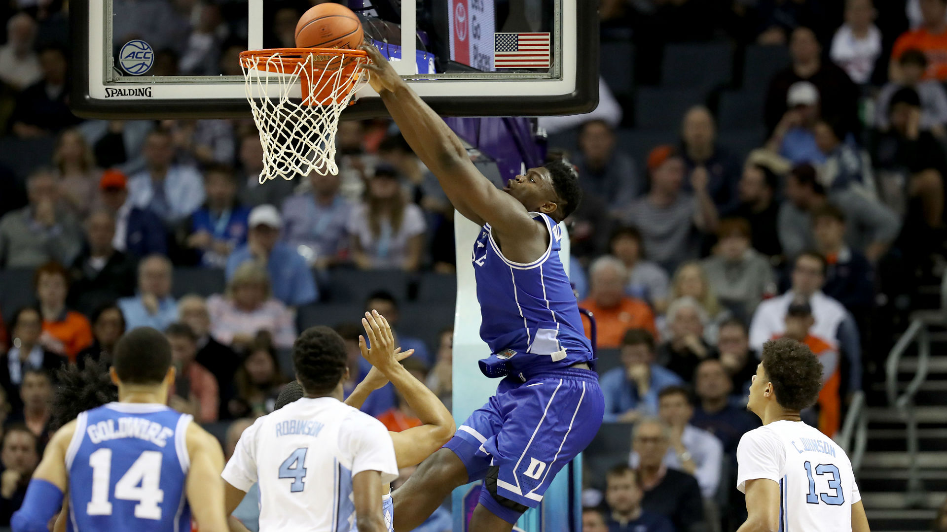 Zion Williamson registered a game-high 31 points and grabbed 11 rebounds to inspire Duke on Friday.