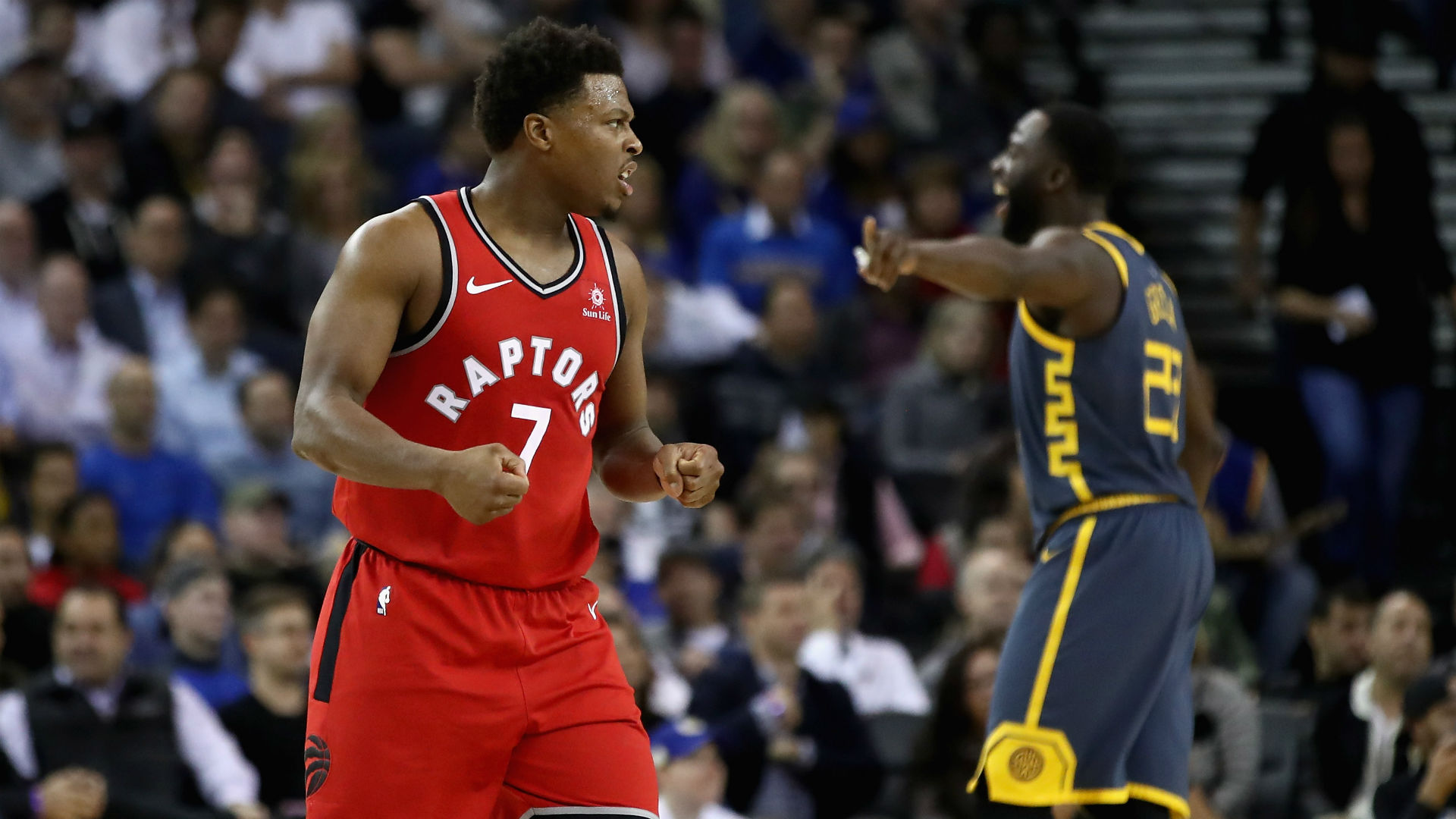 Kyle Lowry scored 23 points as the Toronto Raptors took their record to 23-7 with a clean sweep of the NBA champions.