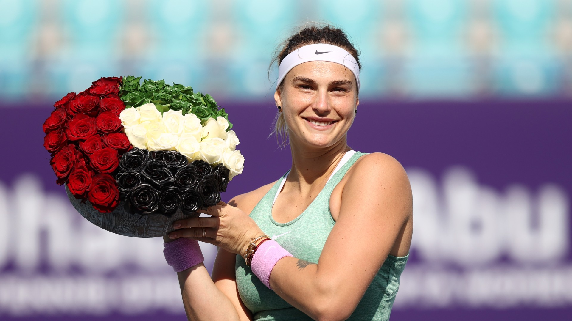 Veronika Kudermetova could not live with Aryna Sabalenka as the in-form Belarusian stormed to a third straight WTA crown.