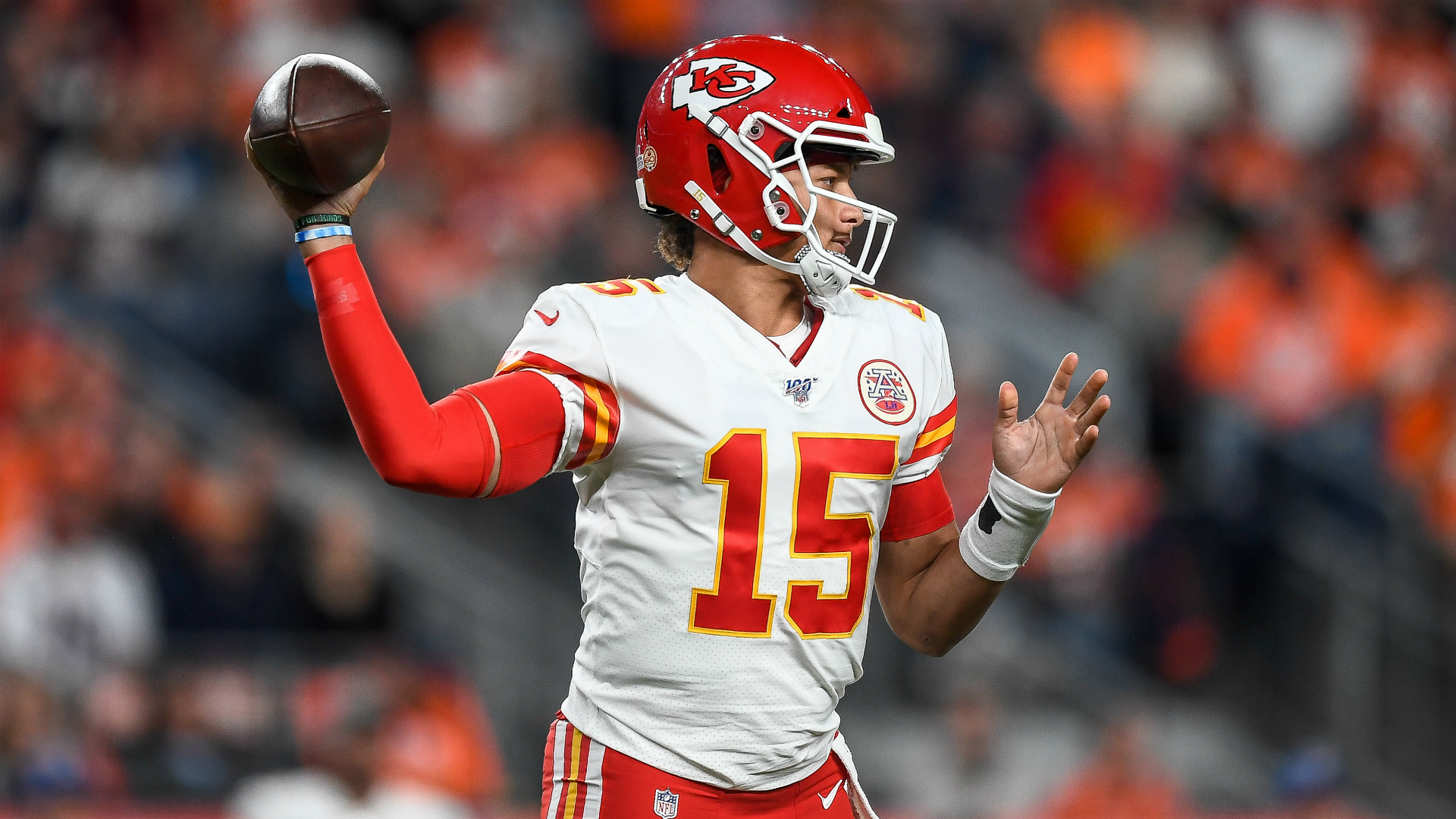 Patrick Mahomes etched himself into the history books prior to leaving the game with a knee injury.
