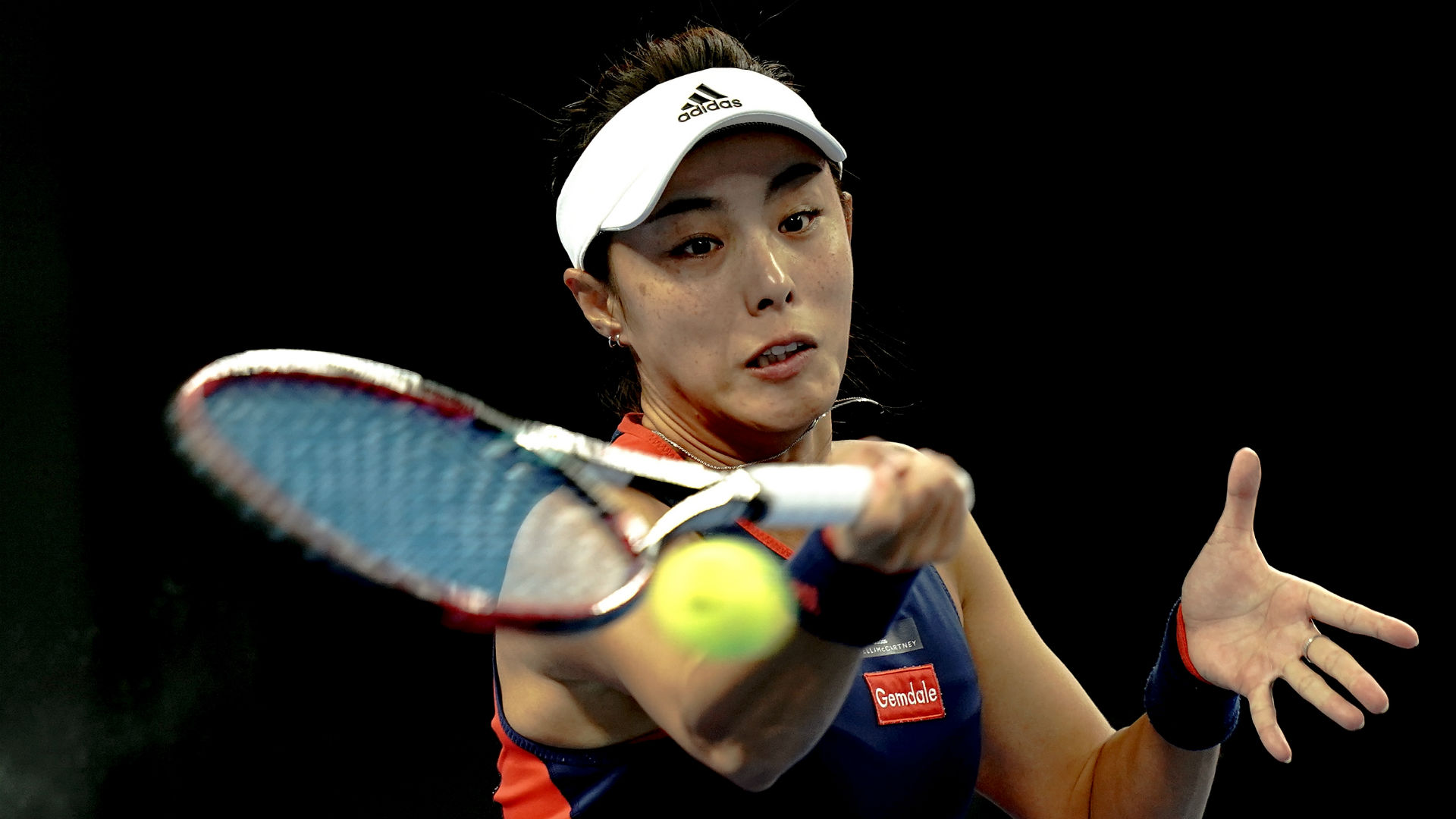 Wang Qiang recovered from a first-set bagel to prevail 0-6 6-1 6-4 against Russian lucky loser Anna Blinkova on Thursday.