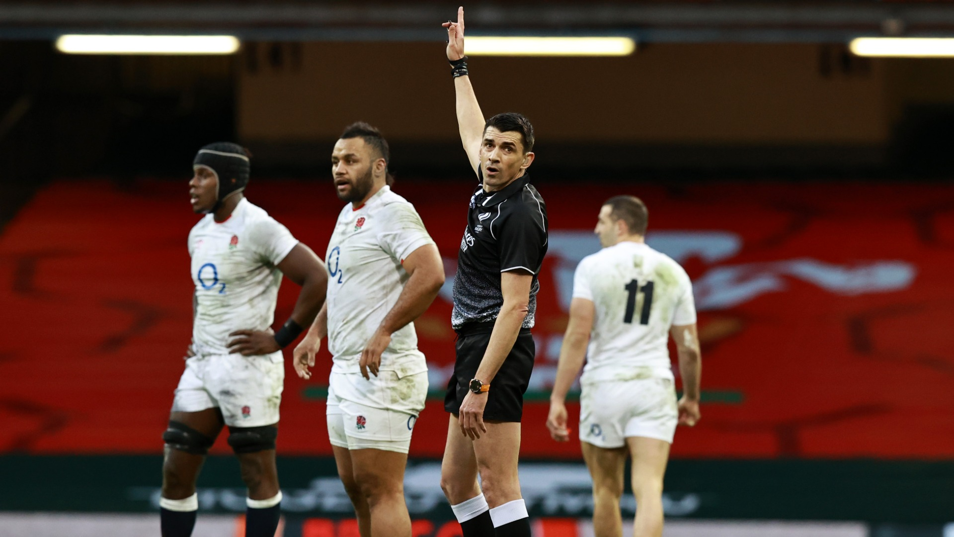 Pascal Gauzere awarded Wales two controversial first-half tries, but Eddie Jones and Owen Farrell did not vent their fury at the referee.
