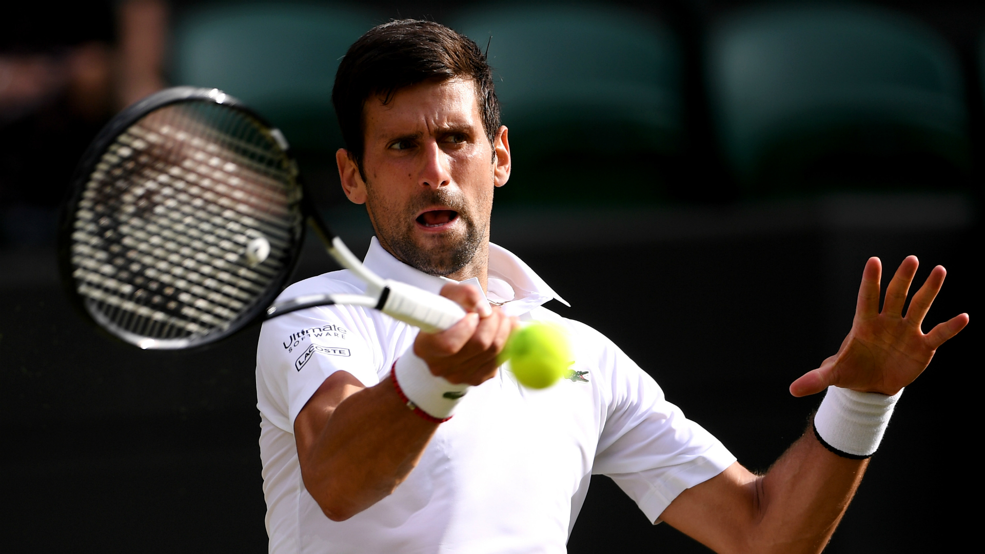 Top seed Novak Djokovic looked irritated during his semi-final victory over Roberto Bautista Agut at Wimbledon on Friday.