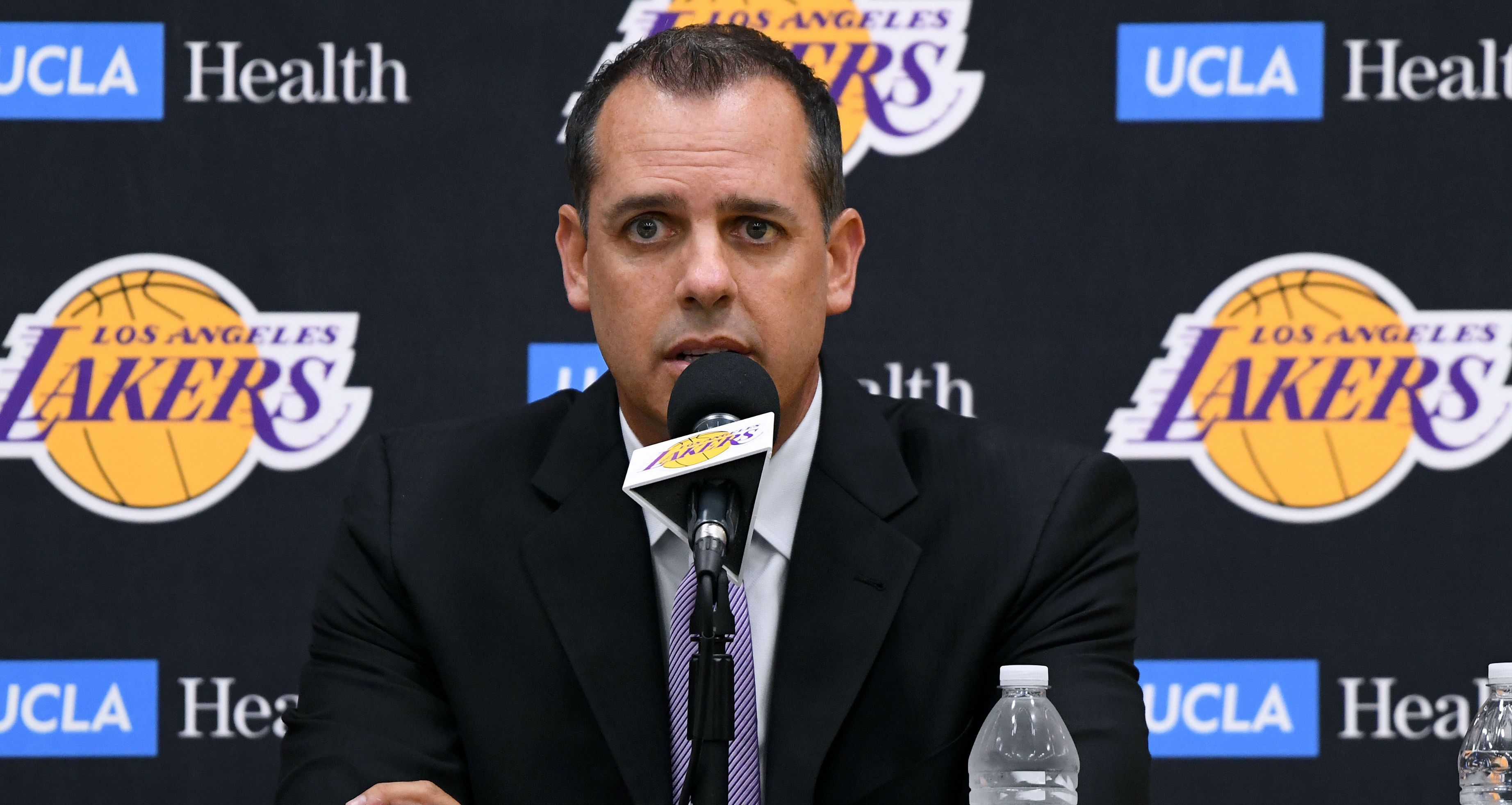 As Frank Vogel prepares for his first season in charge of the Los Angeles Lakers, he discussed LeBron James and Anthony Davis.