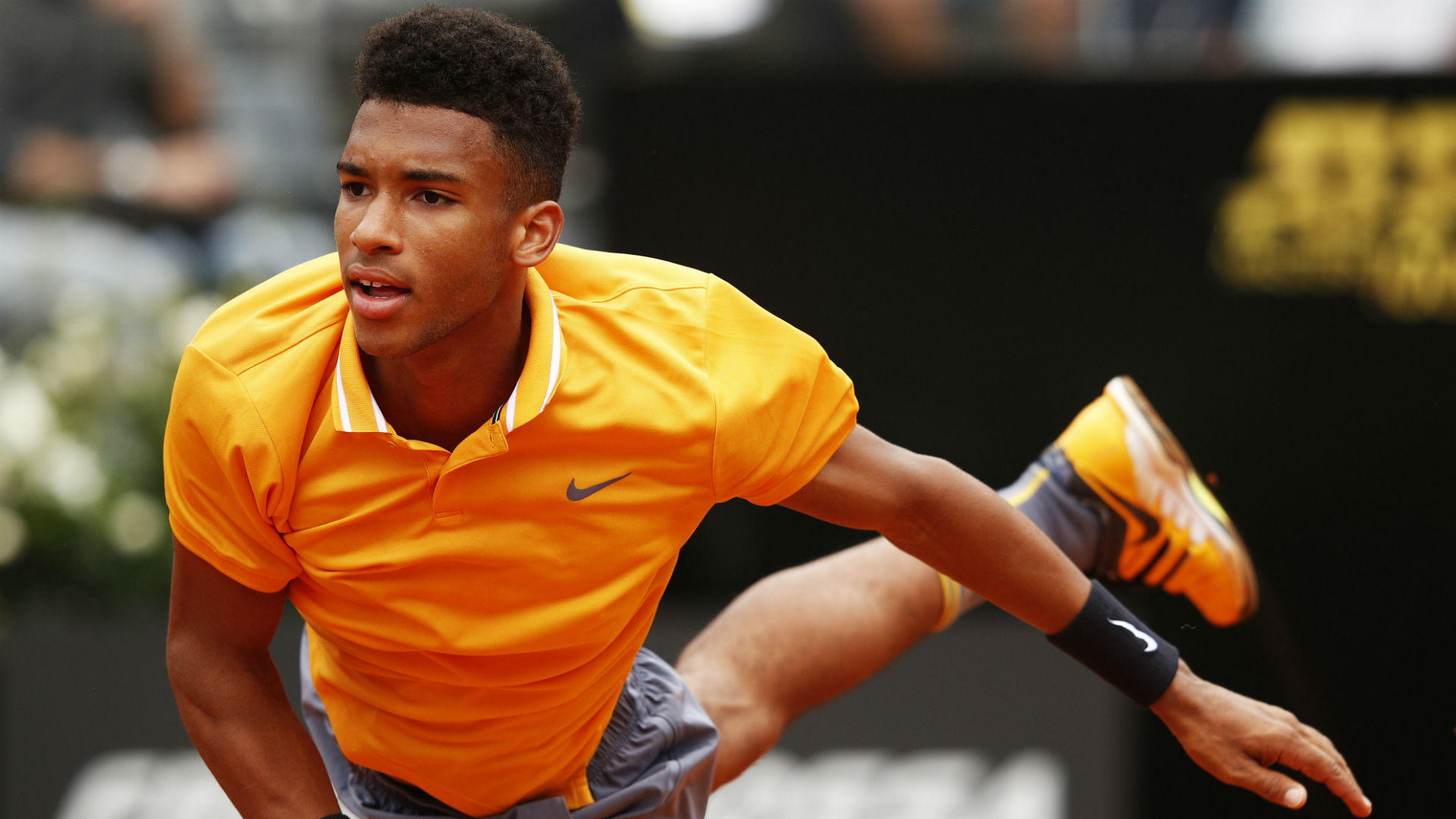 Making his grass-court debut on the ATP Tour, Canadian teenager Felix Auger-Aliassime was far too good for Ernests Gulbis.