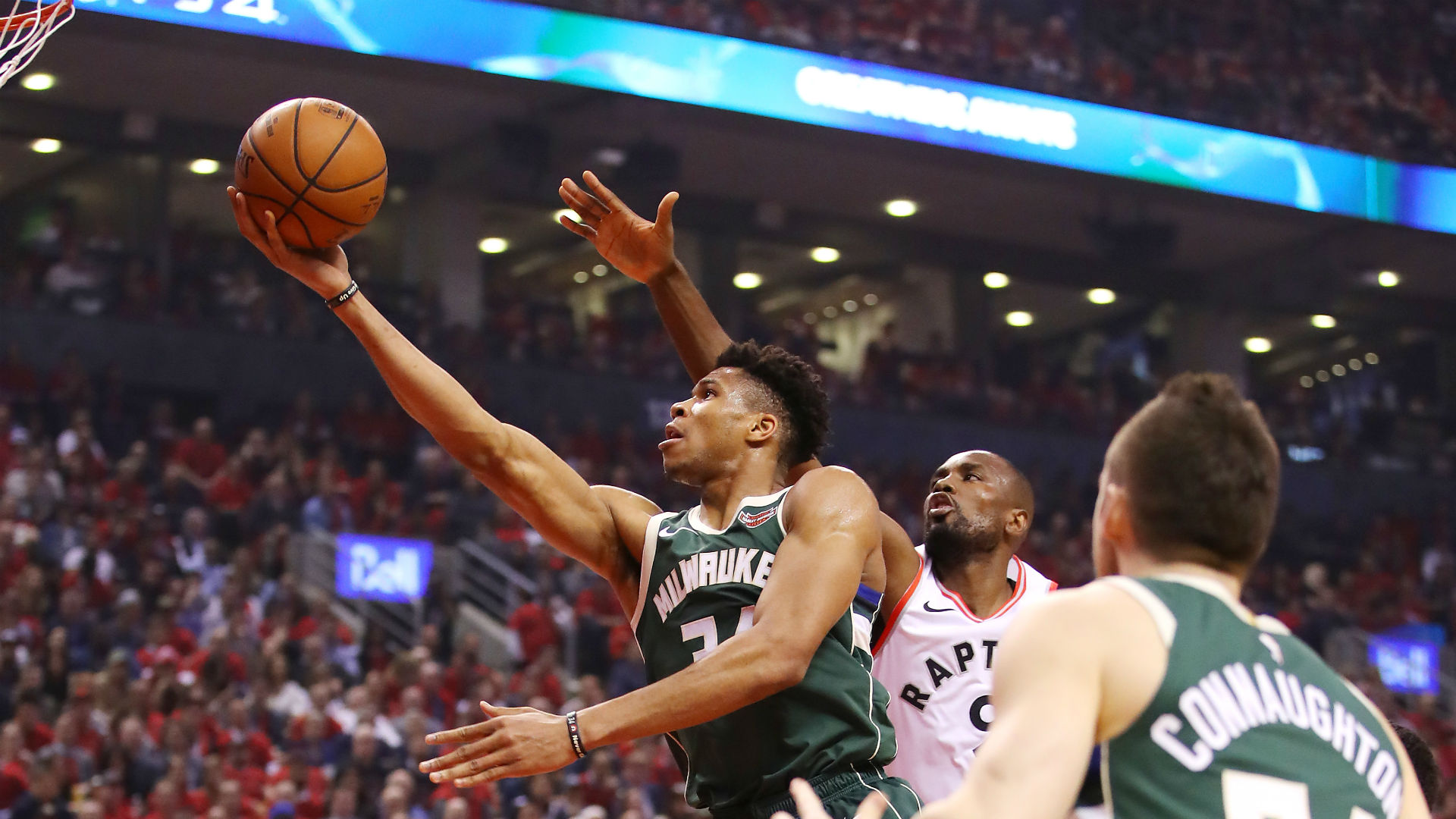The Bucks' 2-0 lead in the Eastern Conference Finals is gone, but Giannis Antetokounmpo is relaxed heading into Game 5 with the Raptors.