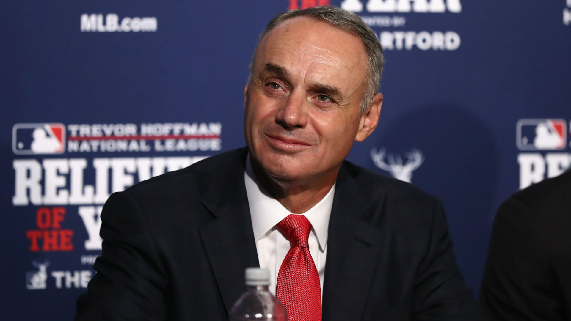 Manfred has been MLB commissioner since 2014.