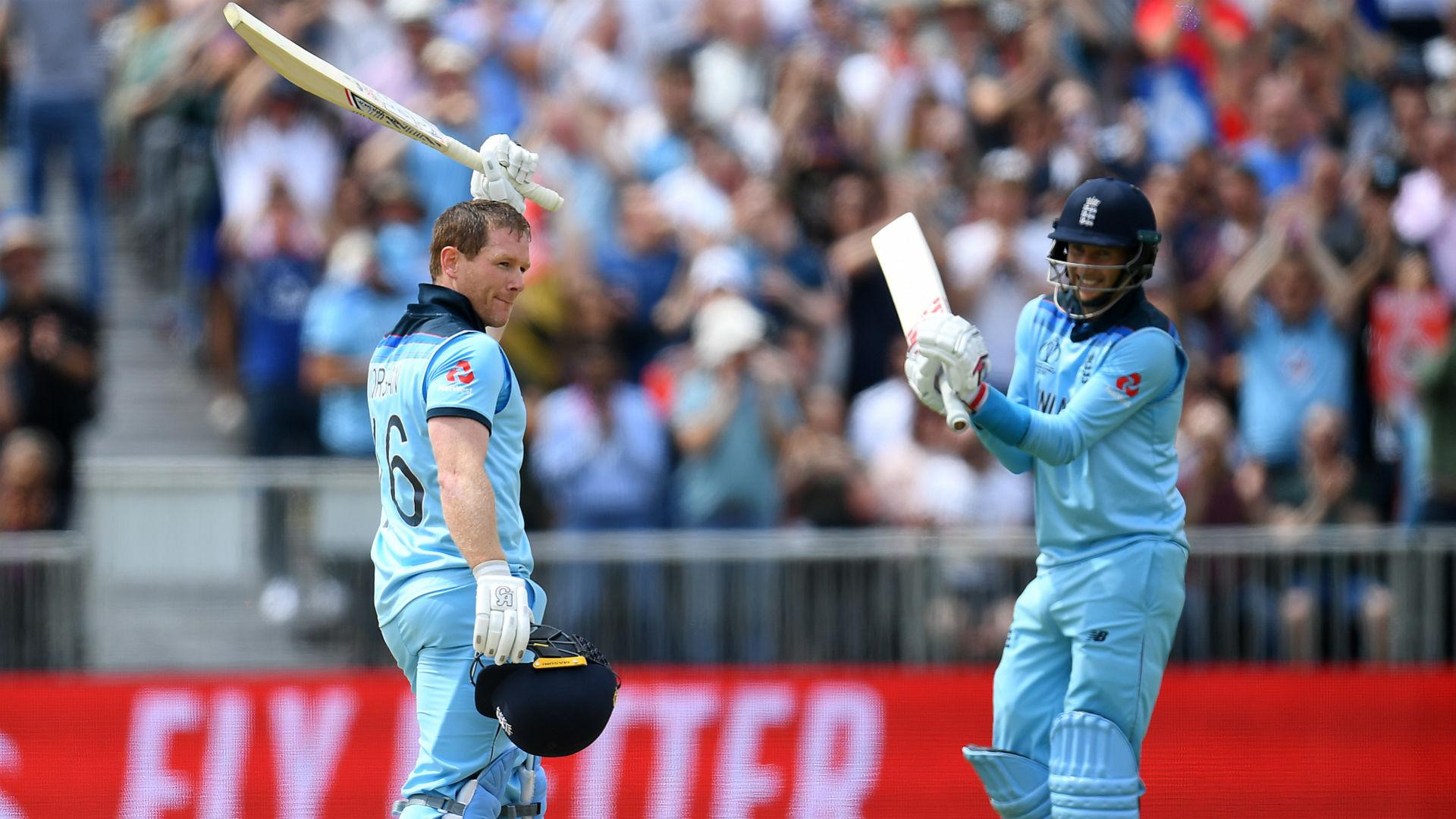 Morgan hits 17 sixes in England win