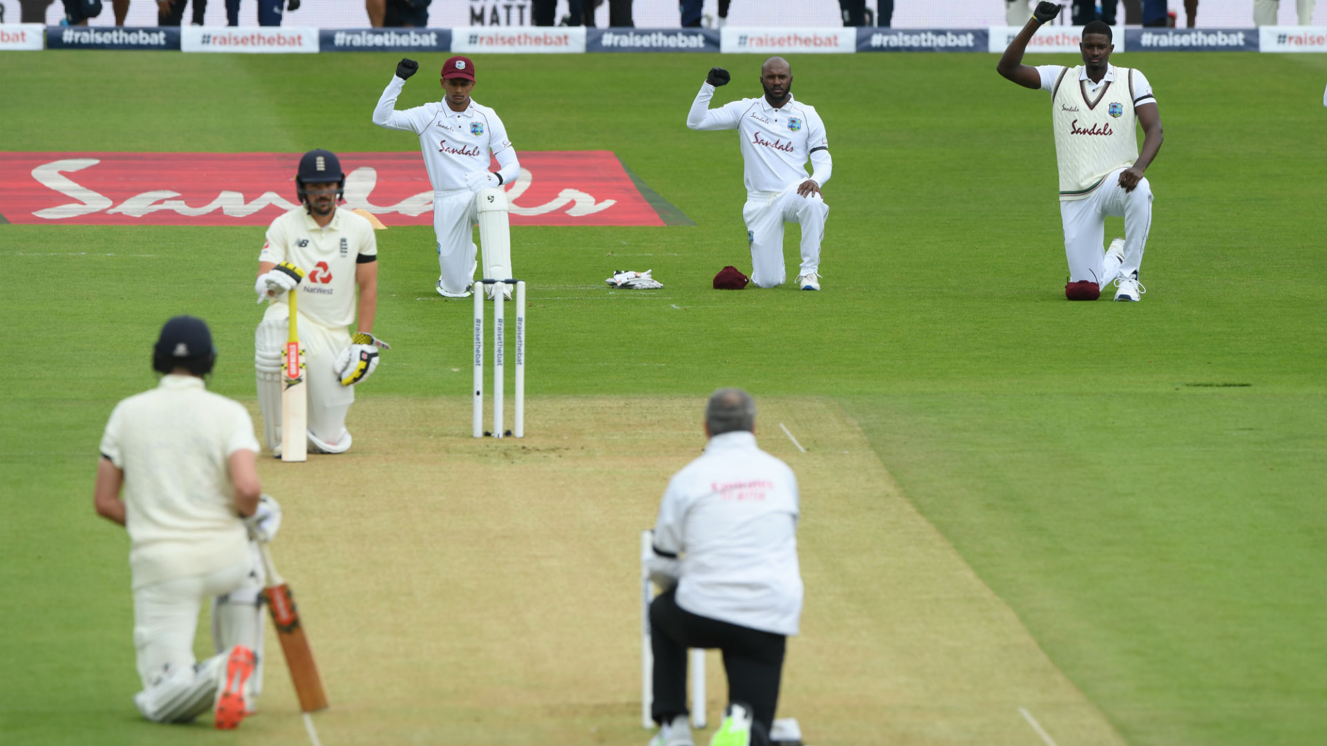 England and Windies unite for BLM