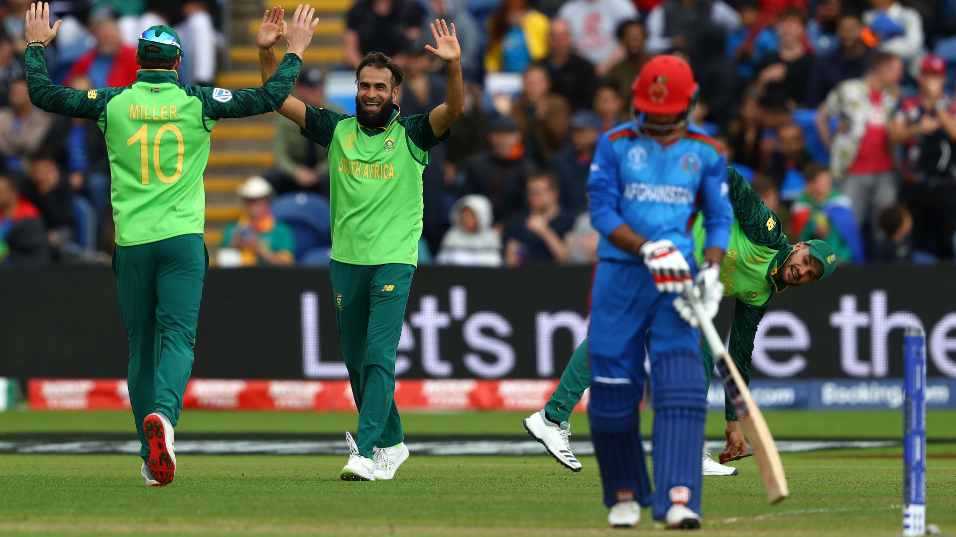 Imran Tahir was key to South Africa's first win of the Cricket World Cup against Afghanistan, earning praise from captain Faf du Plessis.