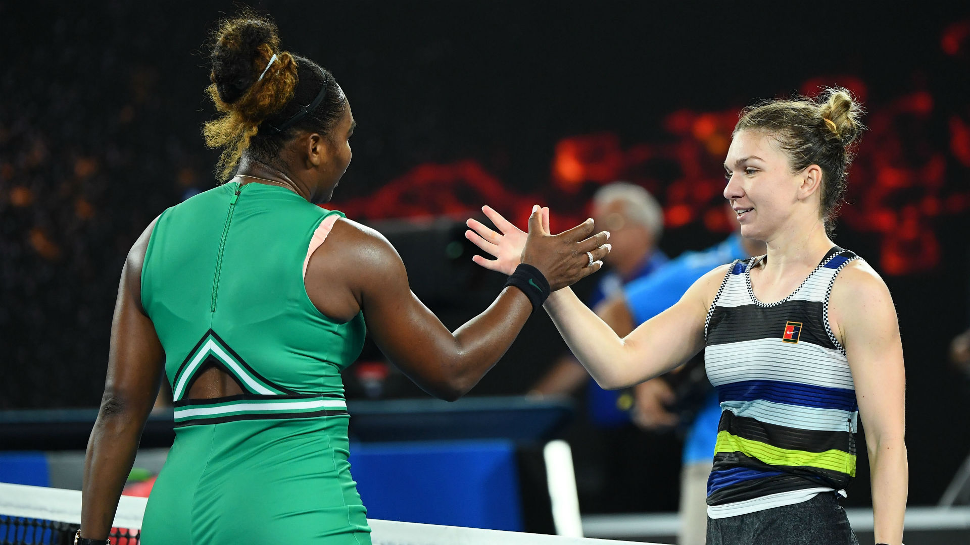 Former world number ones Serena Williams and Simona Halep say keeping their composure will be key when they meet in the final at Wimbledon.
