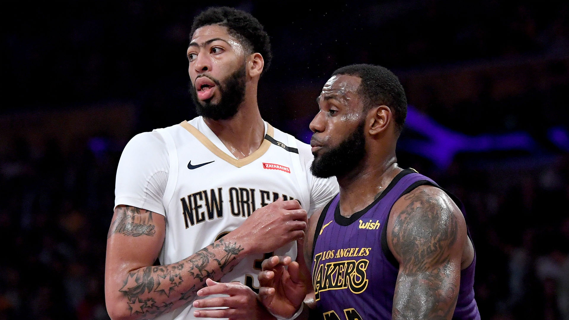 Lakers superstar LeBron James is ready to play with Anthony Davis in Los Angeles.