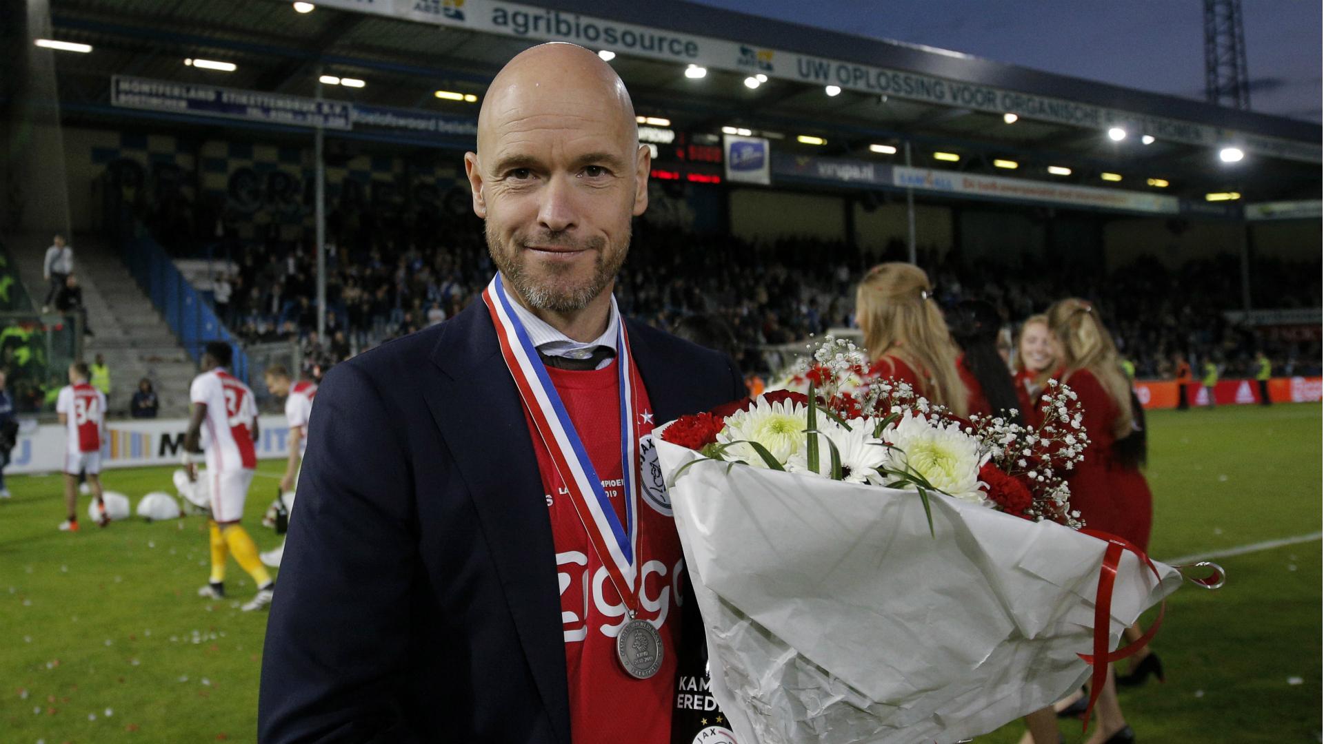 After Abdelhak Nouri was left with brain damage, Erik ten Hag dedicated Ajax's Eredivisie title triumph to 'Appie'.
