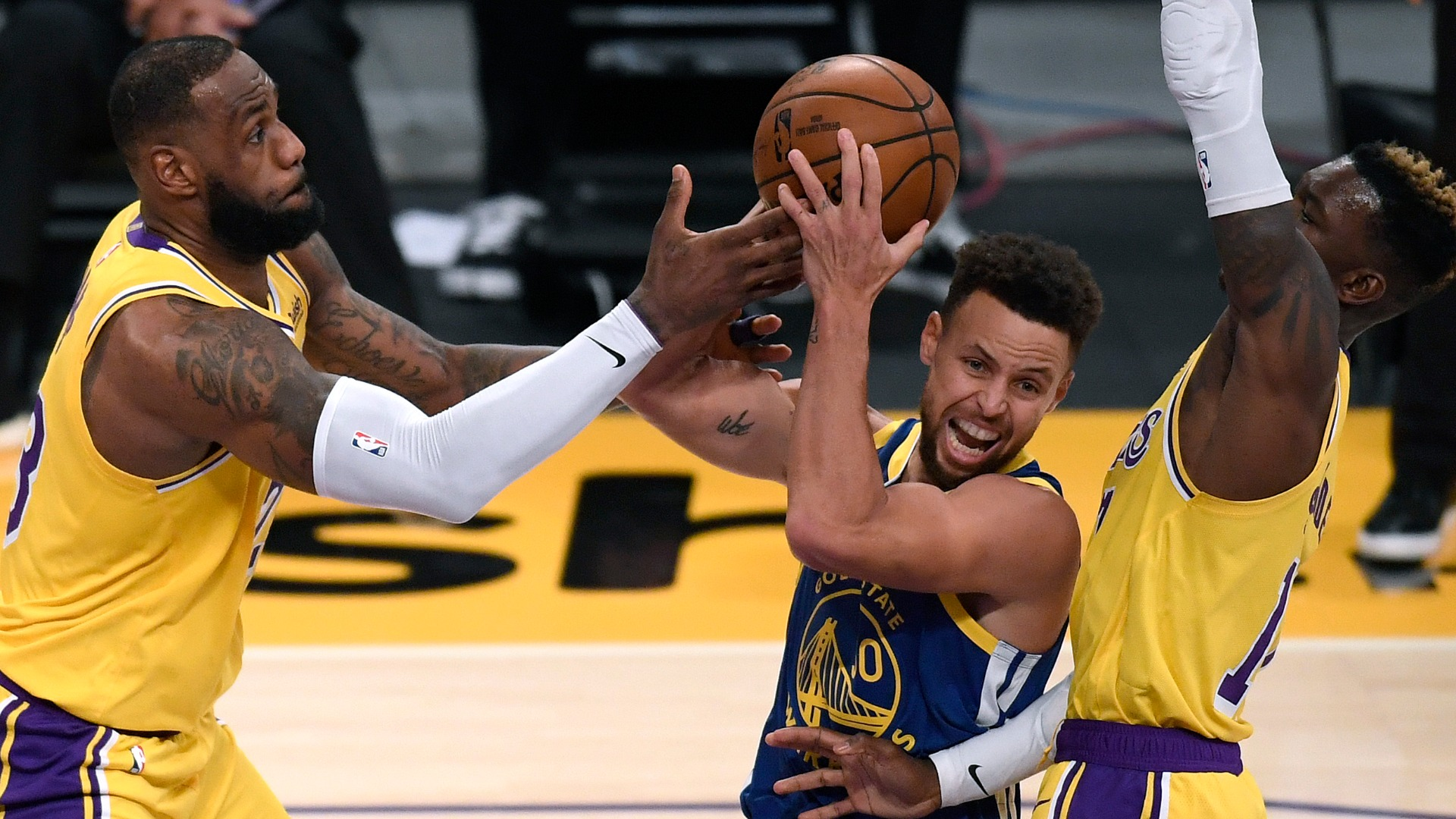 The Golden State Warriors have momentum as they look to beat LeBron James' Los Angeles Lakers for the second time this season.
