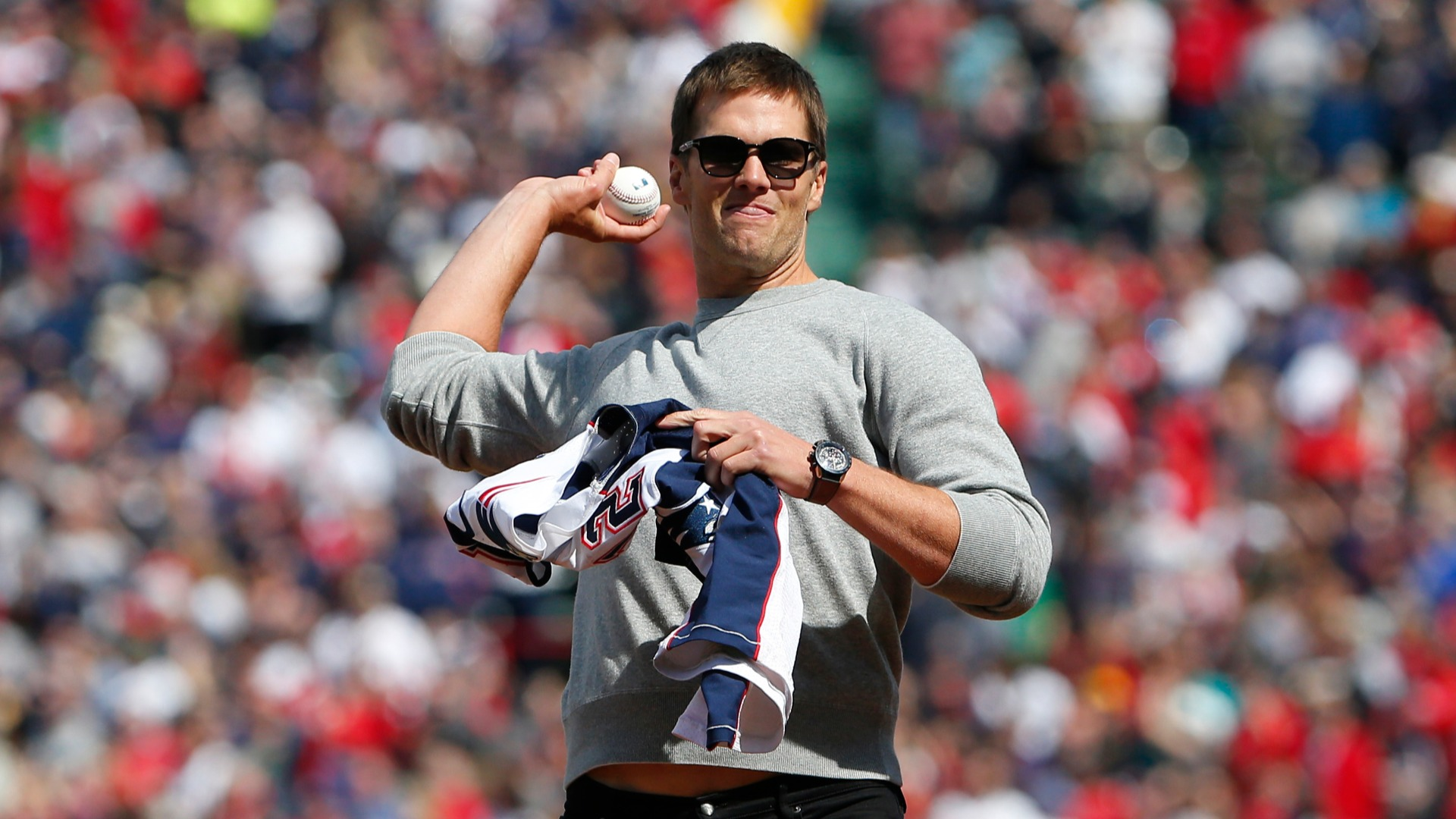 Tom Brady focused on football over baseball and was duly rewarded, but he playfully hinted at a remarkable about-turn on MLB's Opening Day.