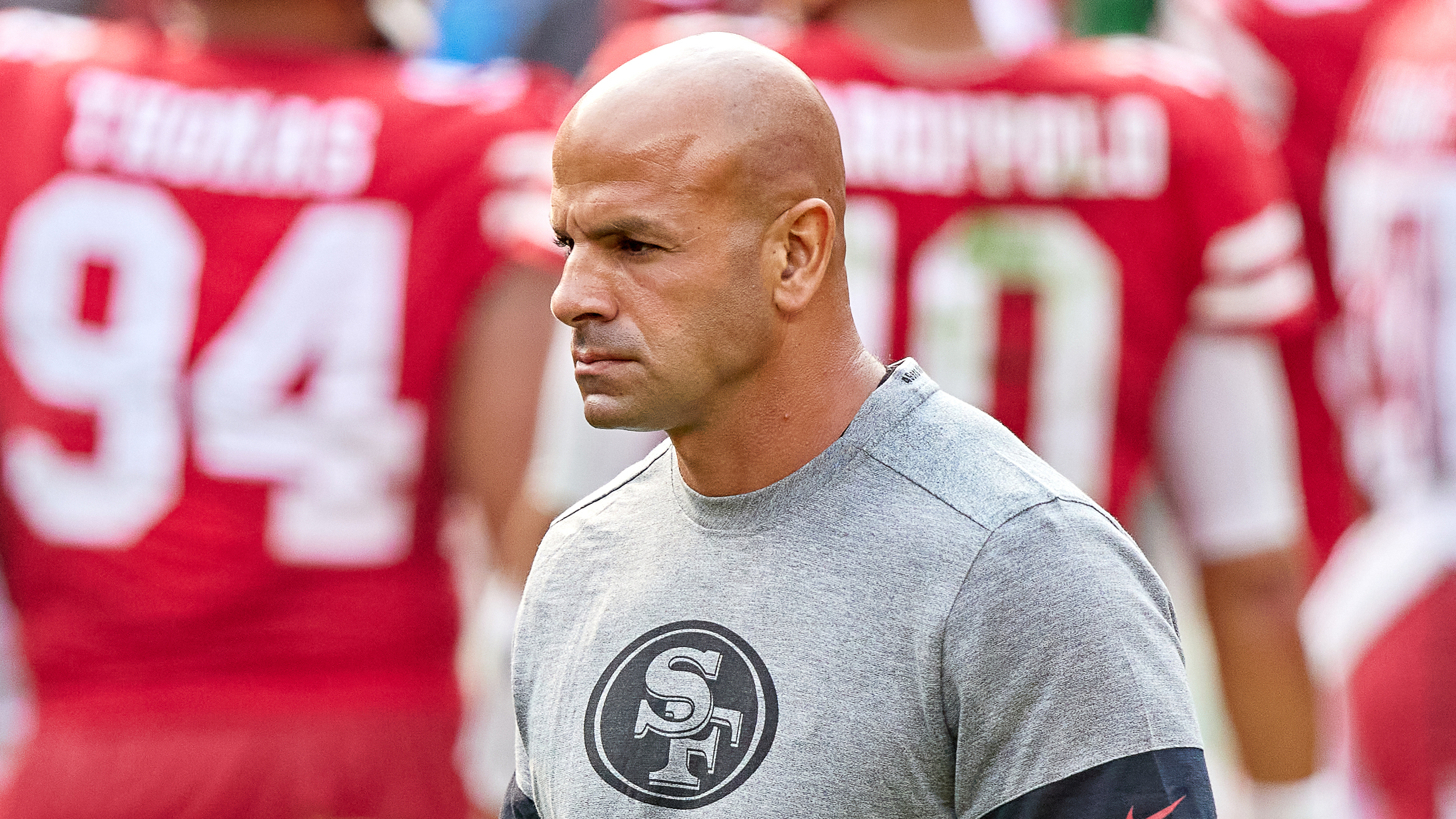 "Robert Saleh has become the 20th head coach of the New York Jets and says there is ""a lot of work to do""."