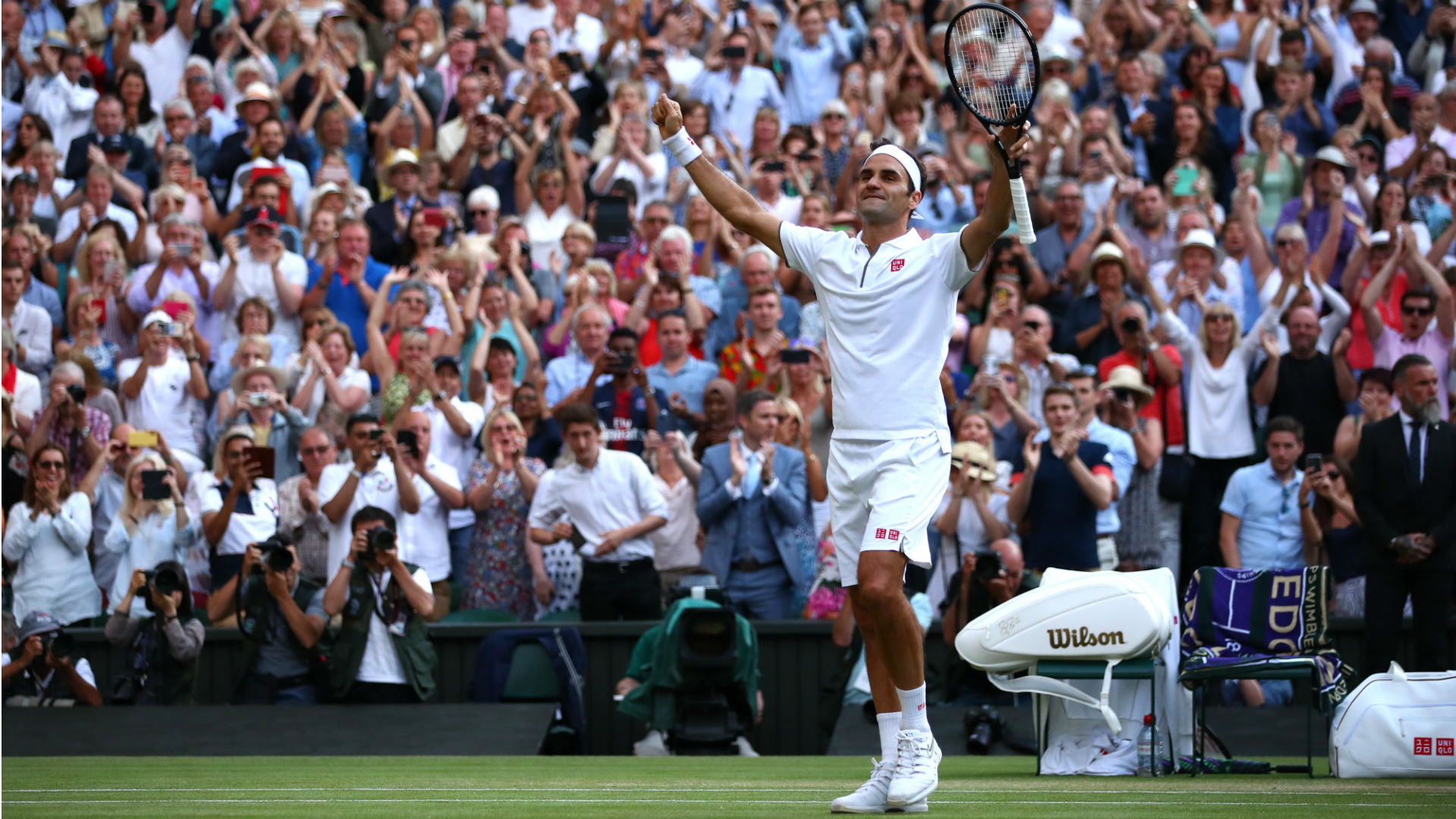 Eleven years after Rafael Nadal beat Roger Federer in an epic Wimbledon final, the Swiss beat his great rival in the last four.