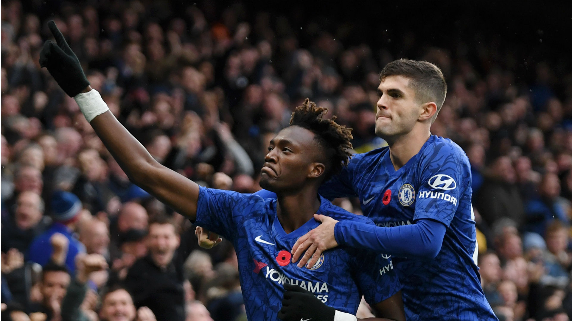 Harry Kane is the perfect example for Tammy Abraham to follow, according to Frank Lampard, whose Chelsea beat Crystal Palace 2-0.