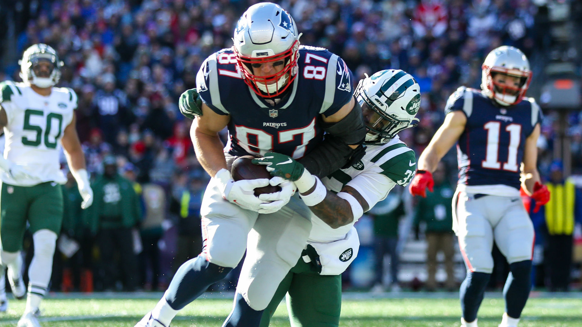 Rob Gronkowski said there were no excuses for the New England Patriots in the NFL playoffs.