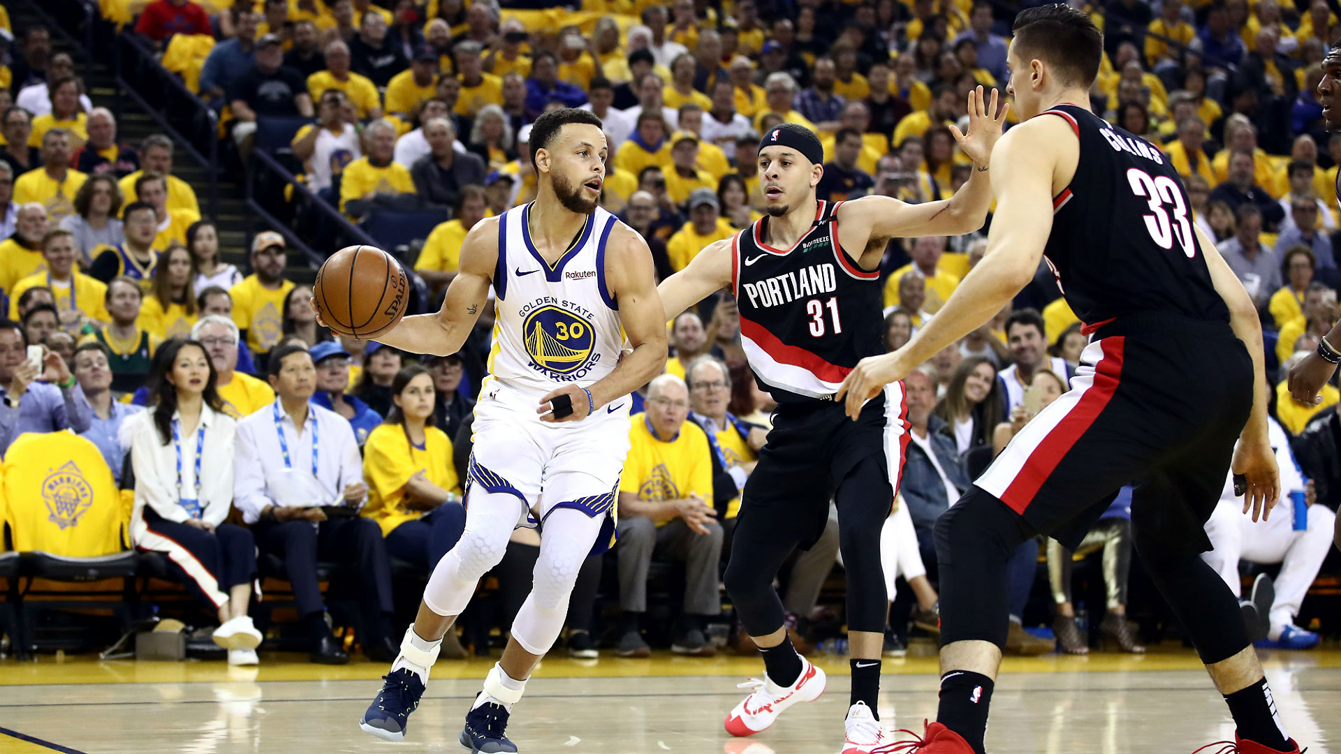 Portland Trail Blazers coach Terry Stotts will look at different ways for his team to defend Stephen Curry.