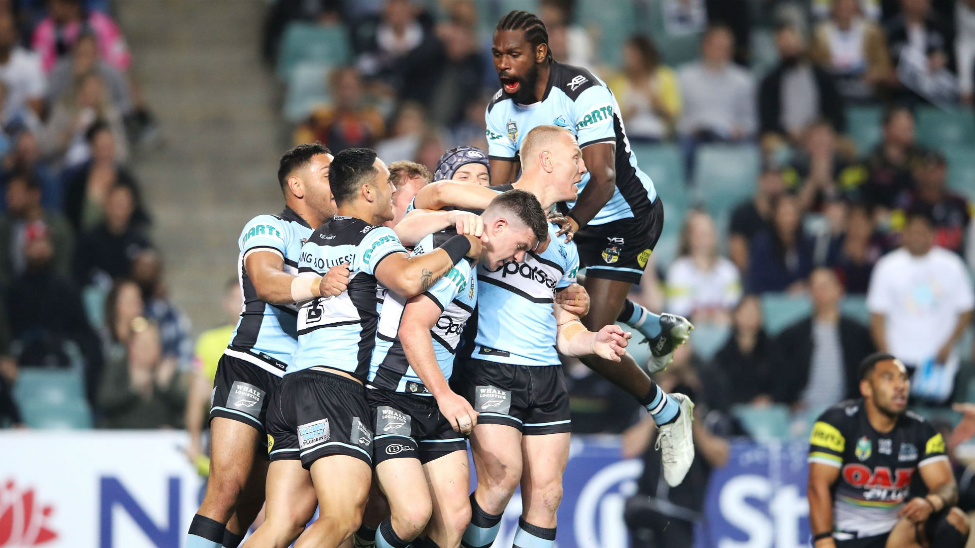 There will be a repeat of the 2016 NRL Grand Final in this year's preliminary round after Cronulla Sharks overcame Penrith Panthers.