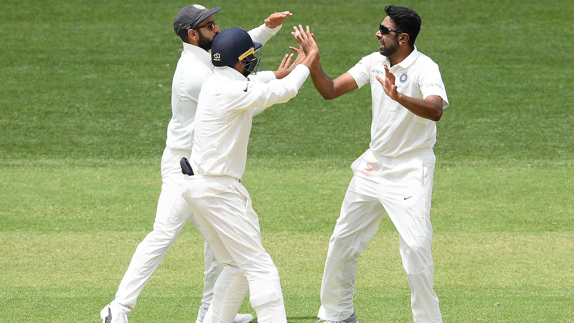 Australia were reduced to 191-7 as India took control of the opening Test in Adelaide.