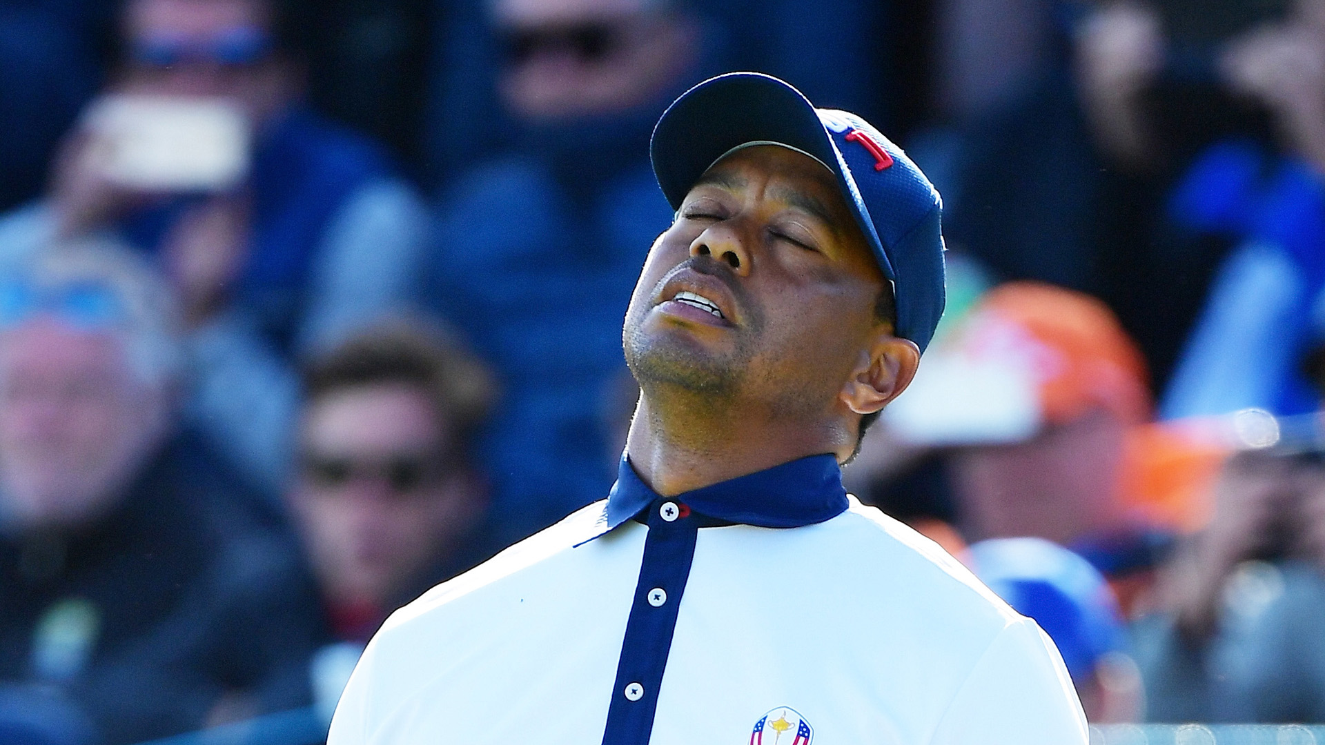 Not only has Tiger Woods yet to win a match at Le Golf National, he is yet to play an 18th hole having gone 0-3, and he is frustrated.