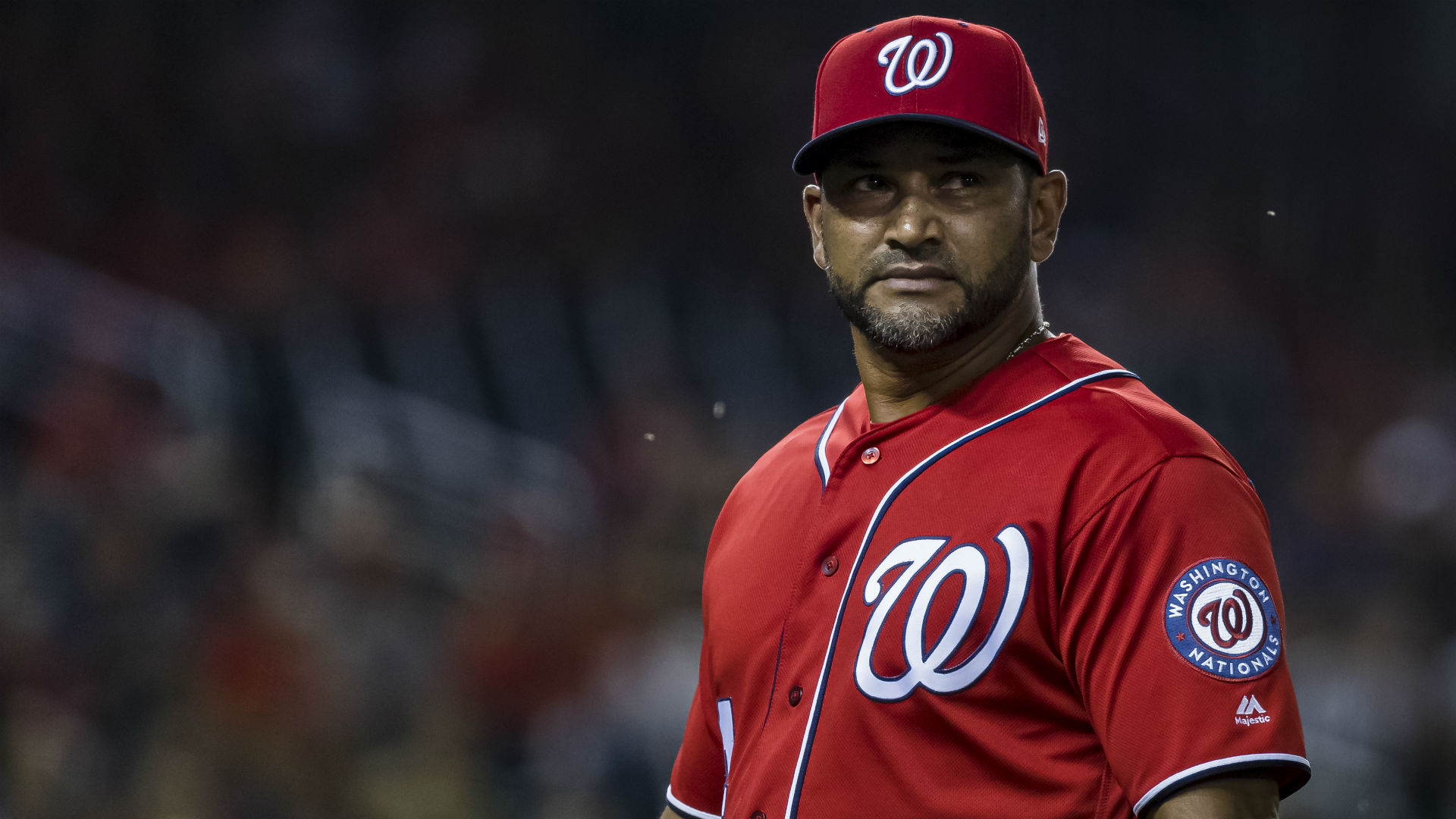 """GM Mike Rizzo said Martinez underwent a """"minor"""" procedure Monday and will remain in D.C. as the Nats play in St. Louis."""